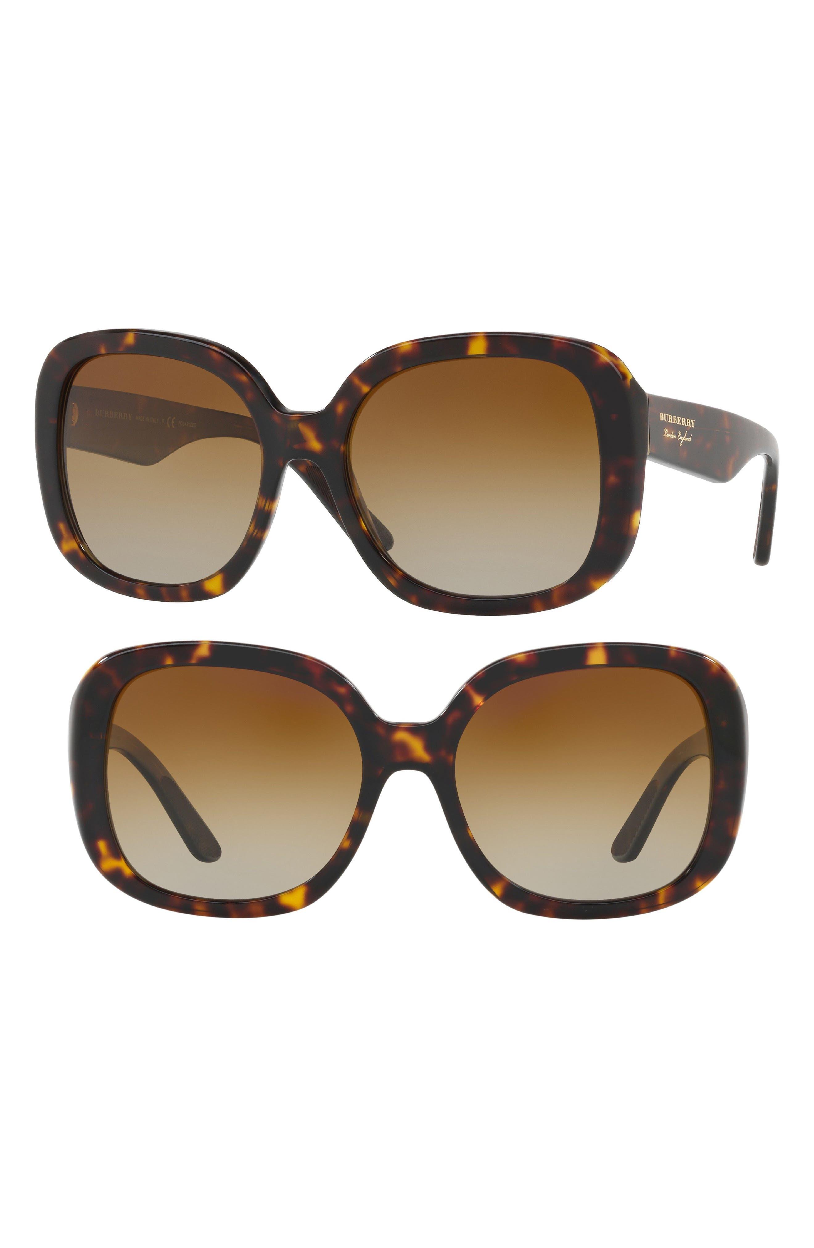 Burberry 56mm Polarized Sunglasses