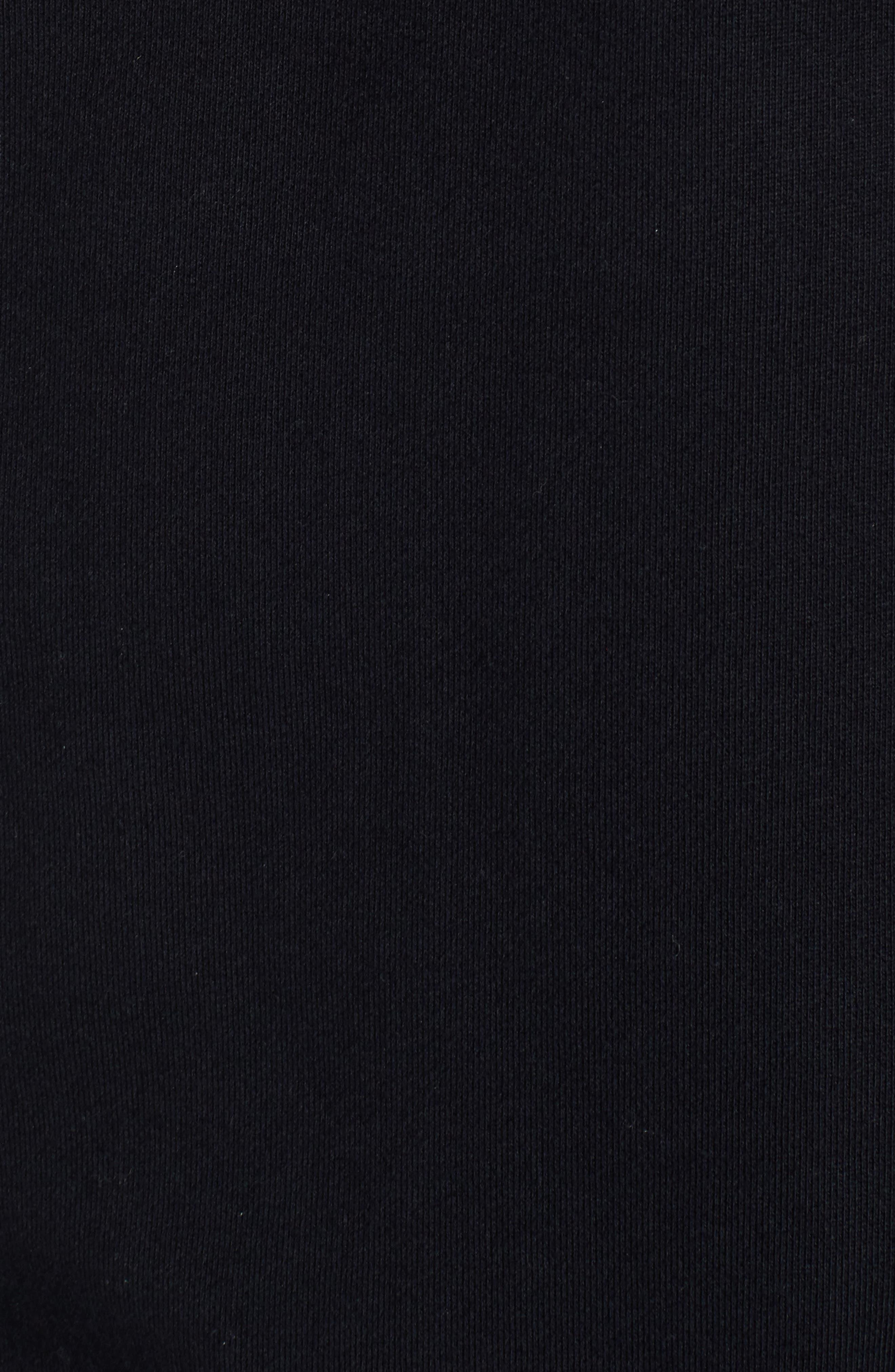 Cutoff Short Sleeve Sweatshirt,                             Alternate thumbnail 5, color,                             Black