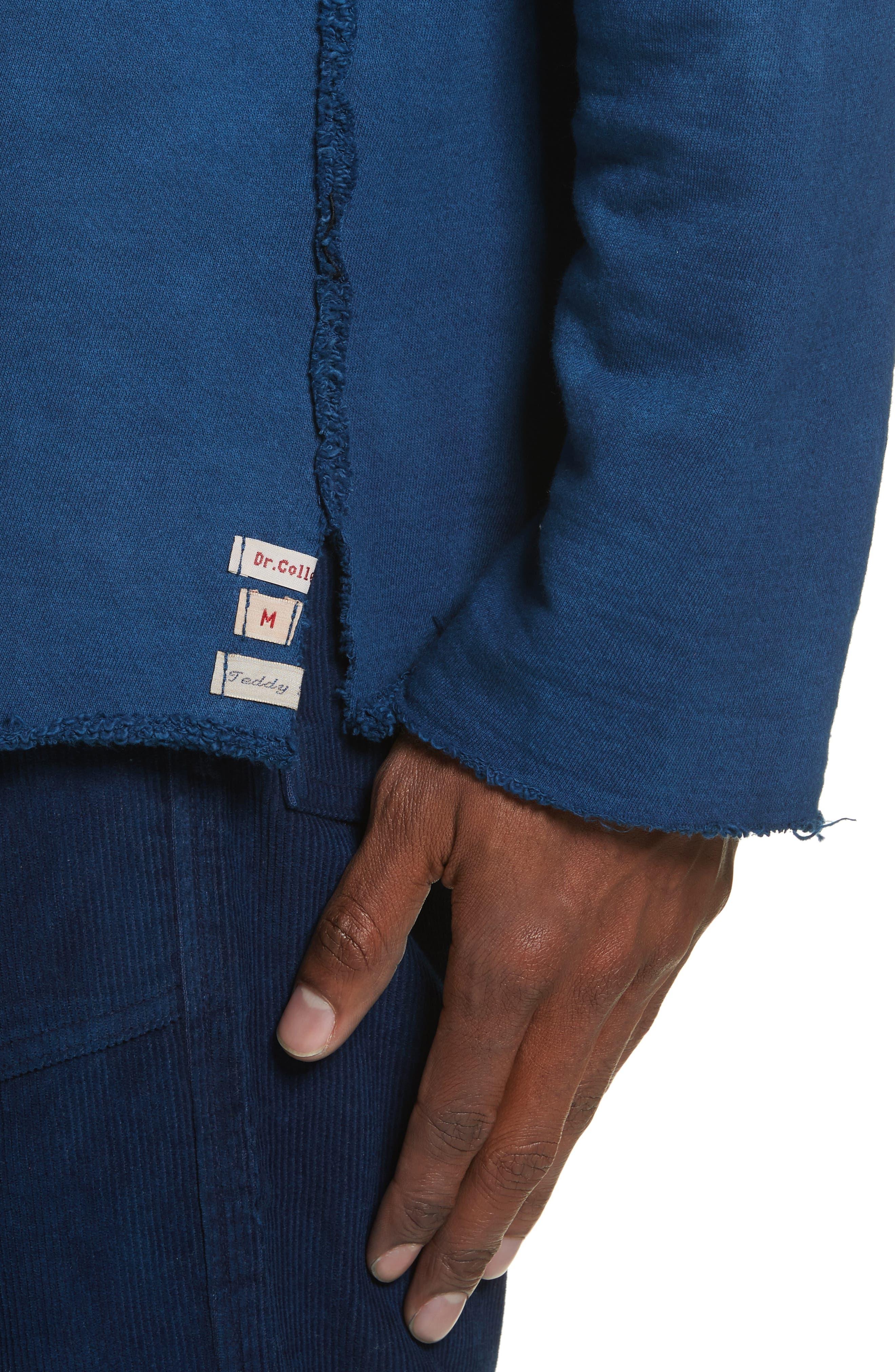 Malibu Reversible Sweatshirt,                             Alternate thumbnail 5, color,                             Indigo