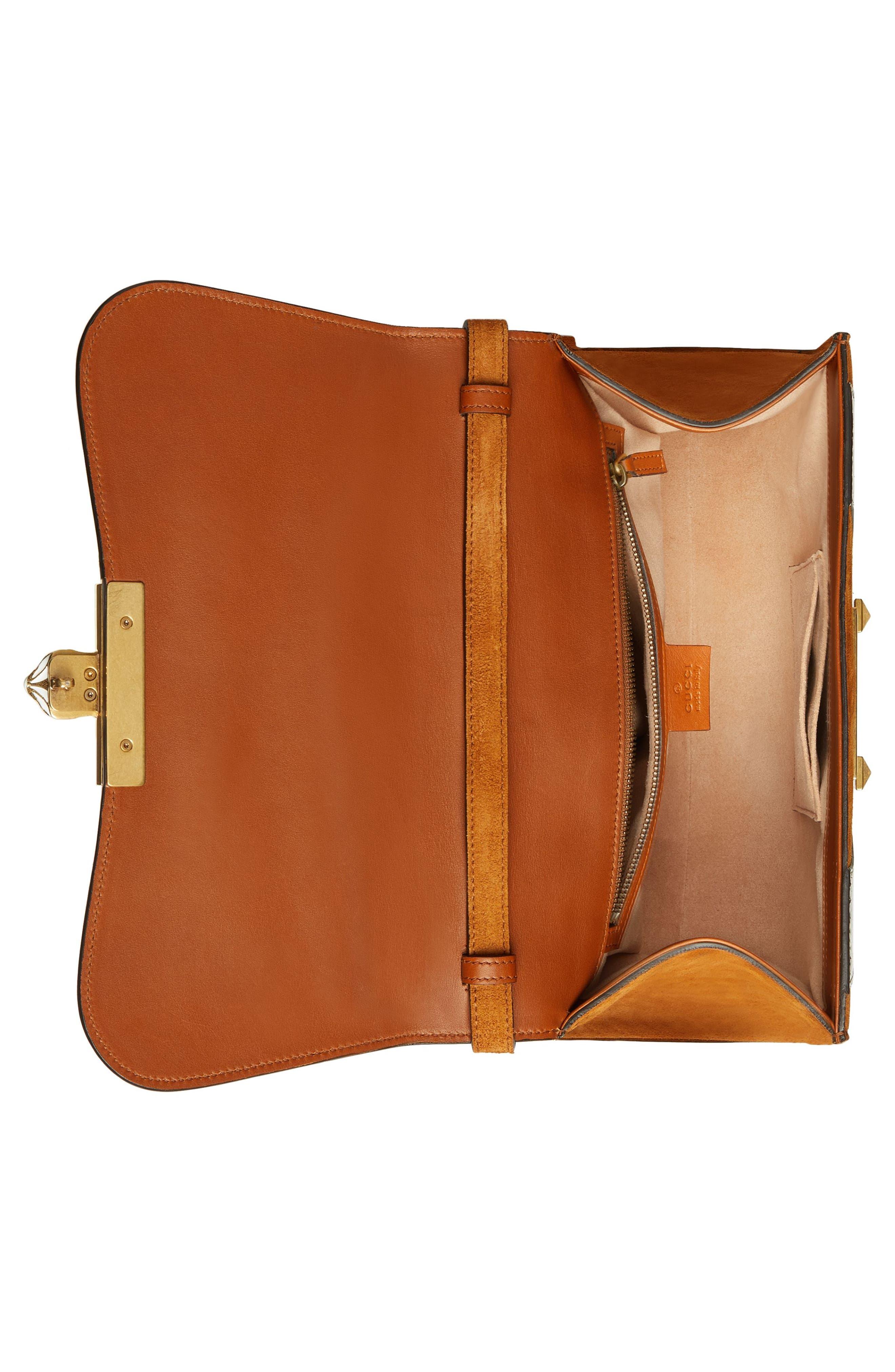 Small Osiride Leather & Canvas Top Handle Satchel,                             Alternate thumbnail 3, color,                             Bright Cuir/ Roccia