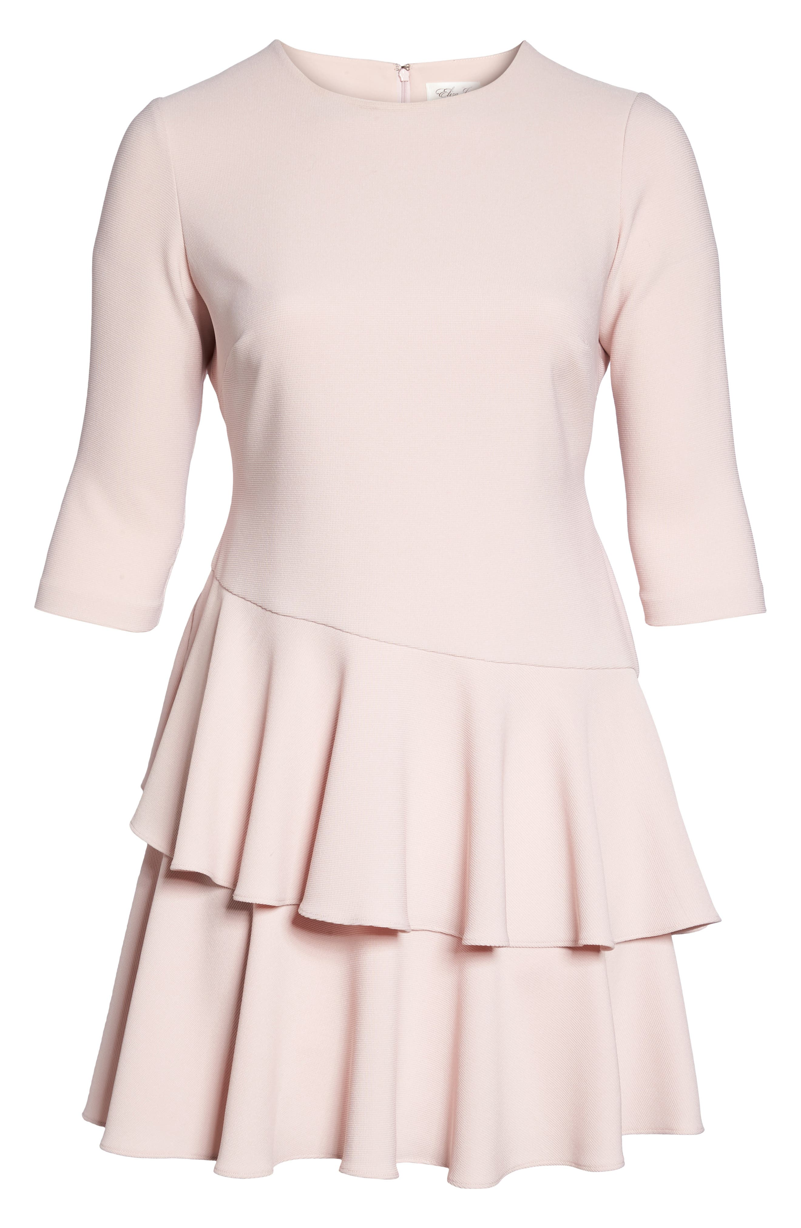 Tiered Ruffle A-Line Dress,                             Alternate thumbnail 6, color,                             Blush