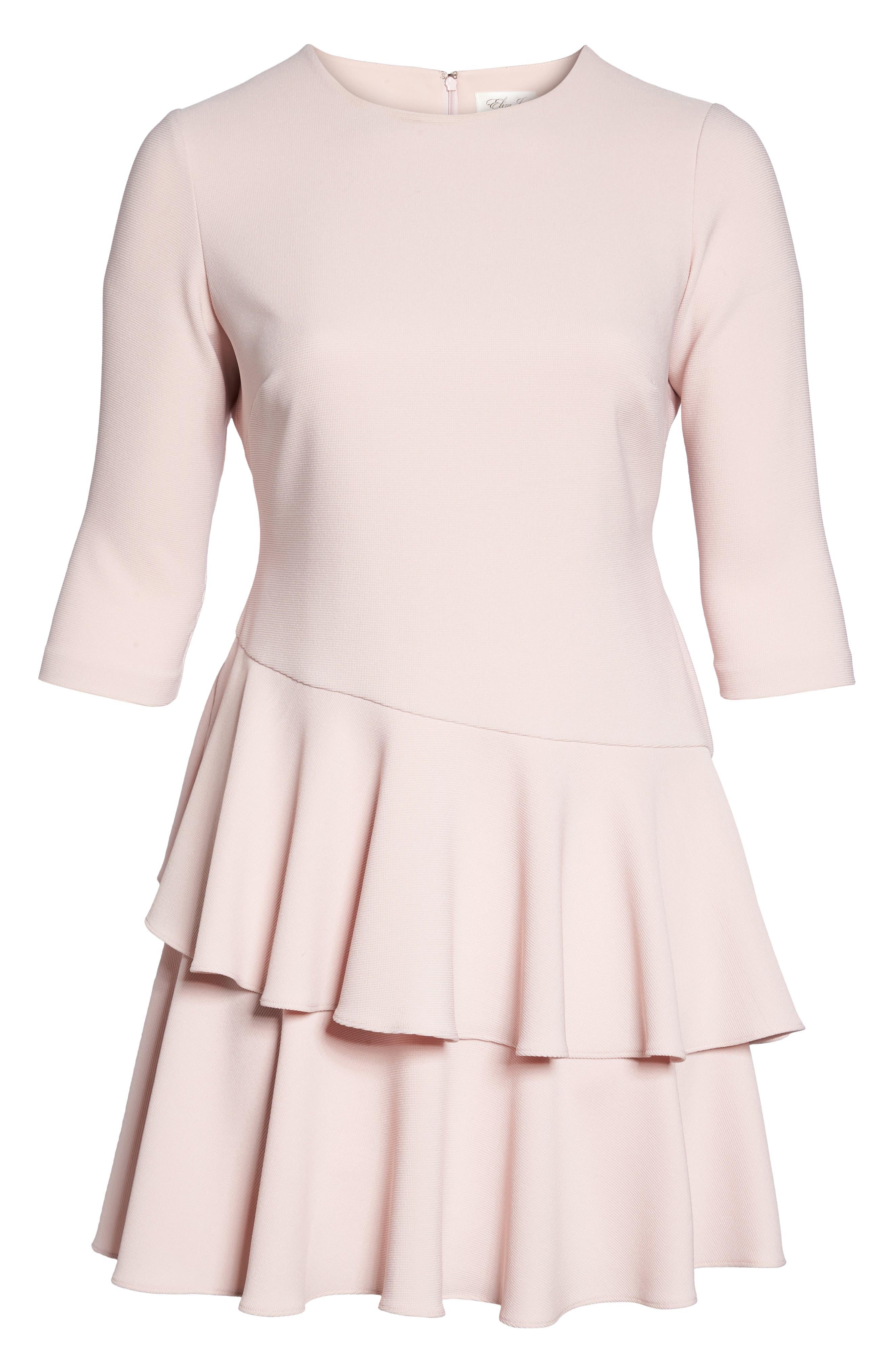 Alternate Image 6  - Eliza J Tiered Ruffle A-Line Dress (Plus Size)