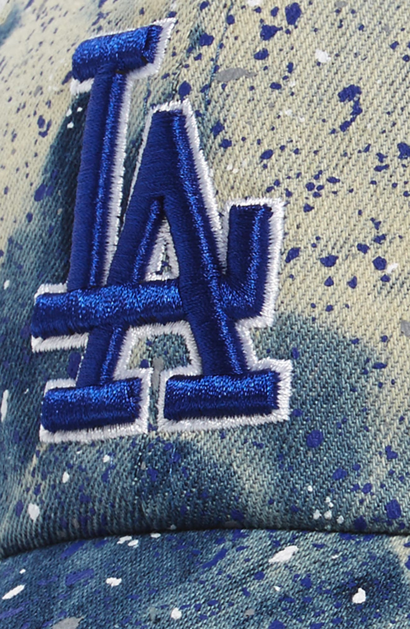 Los Angeles Dodgers - Blue Splatter Baseball Cap,                             Alternate thumbnail 3, color,                             Blue