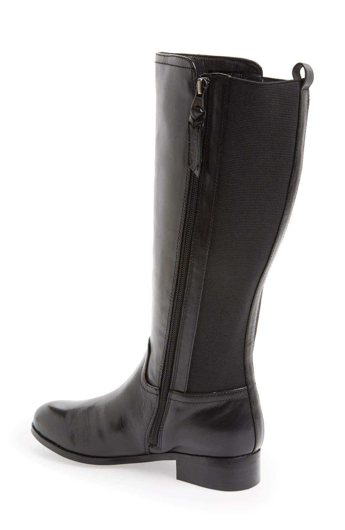 Alternate Image 2  - Trotters 'Signature Lucia' Leather Riding Boot (Wide Calf) (Women)