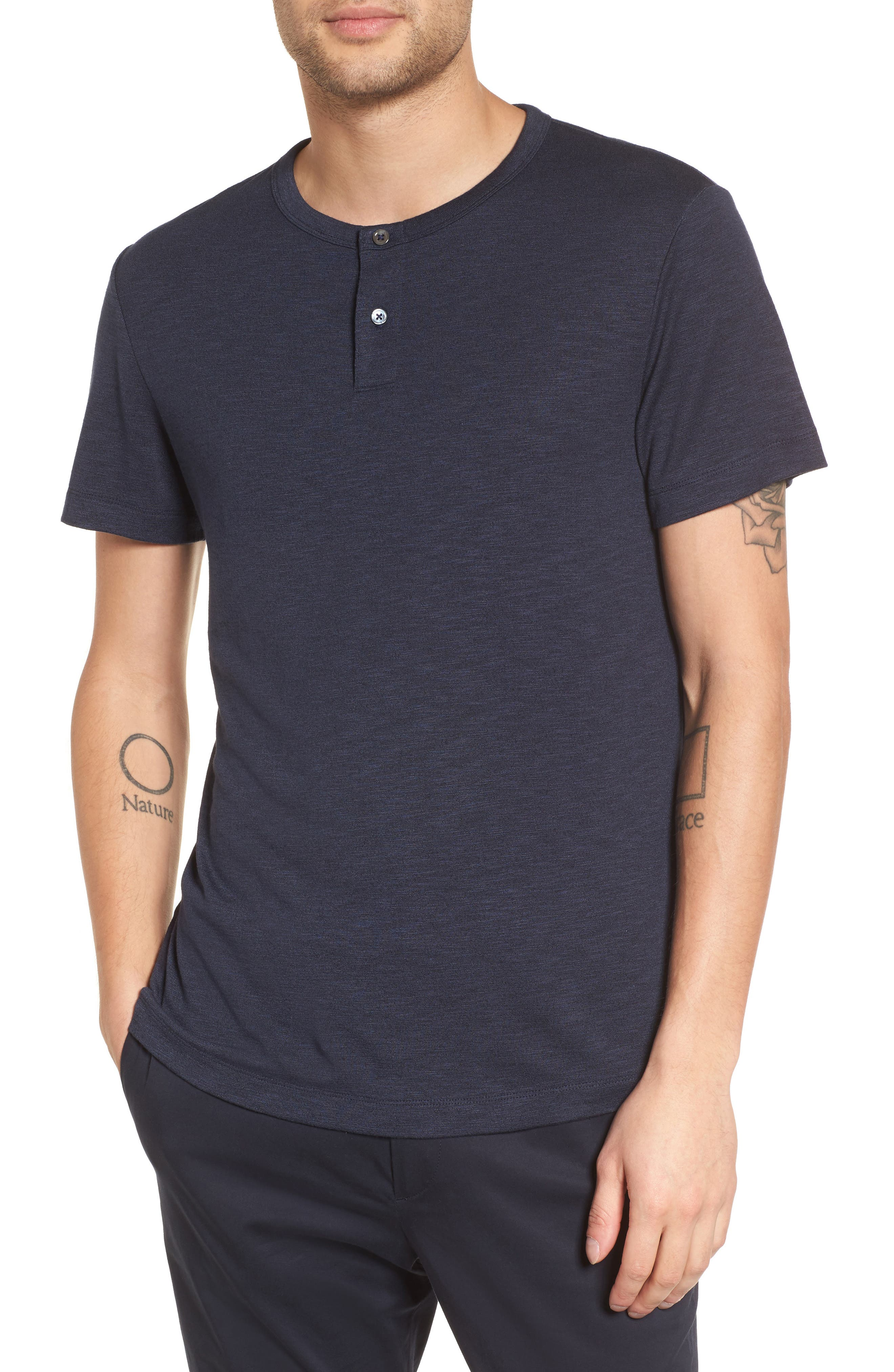 Gaskell Anemone Slim Fit Henley,                         Main,                         color, Eclipse Multi