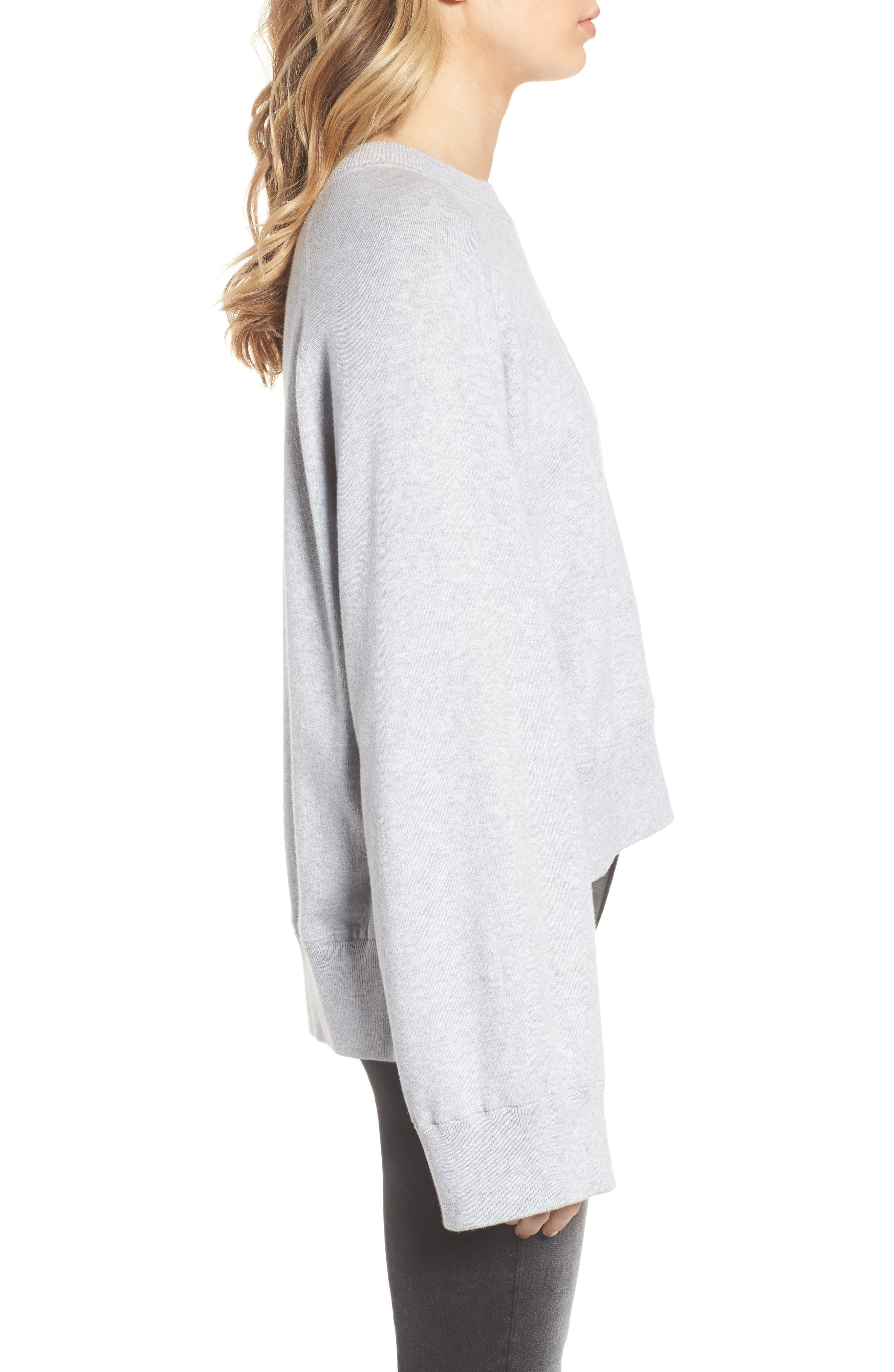 Lea Sweatshirt,                             Alternate thumbnail 3, color,                             Grey