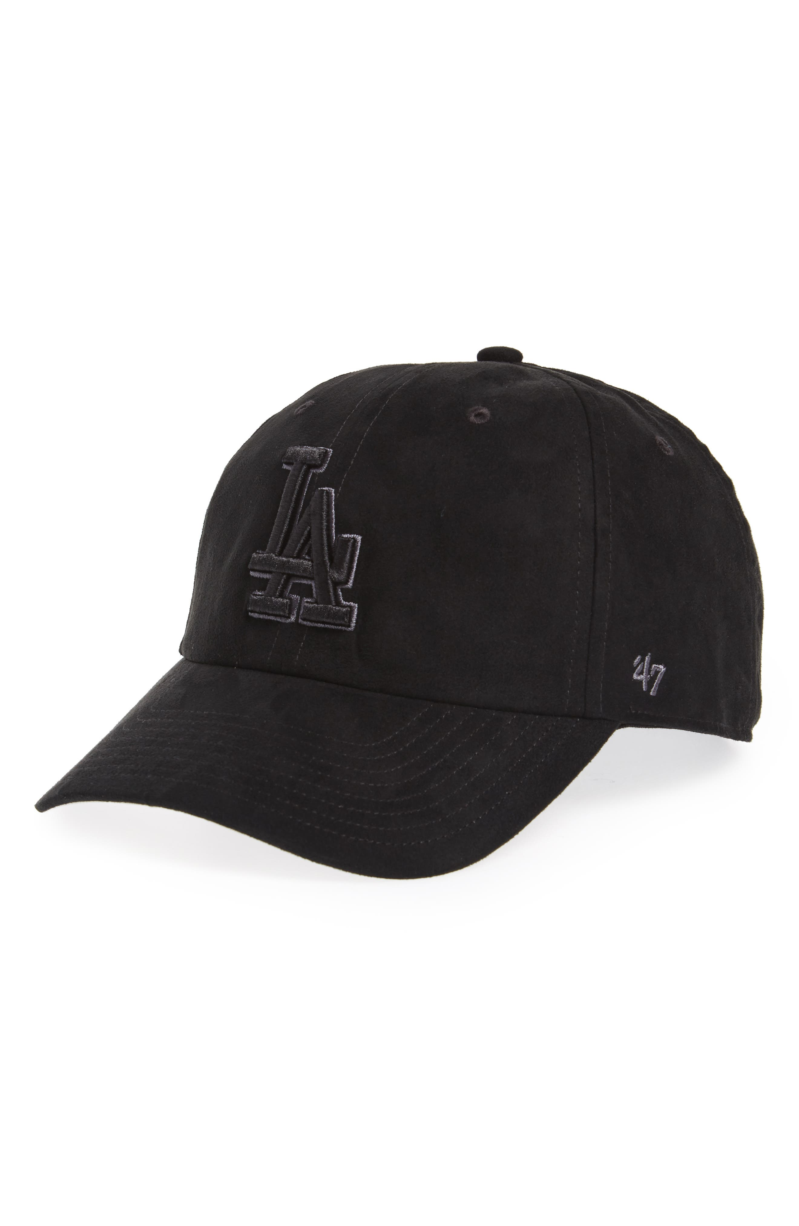 Los Angeles Dodgers Baseball Cap,                         Main,                         color, Black