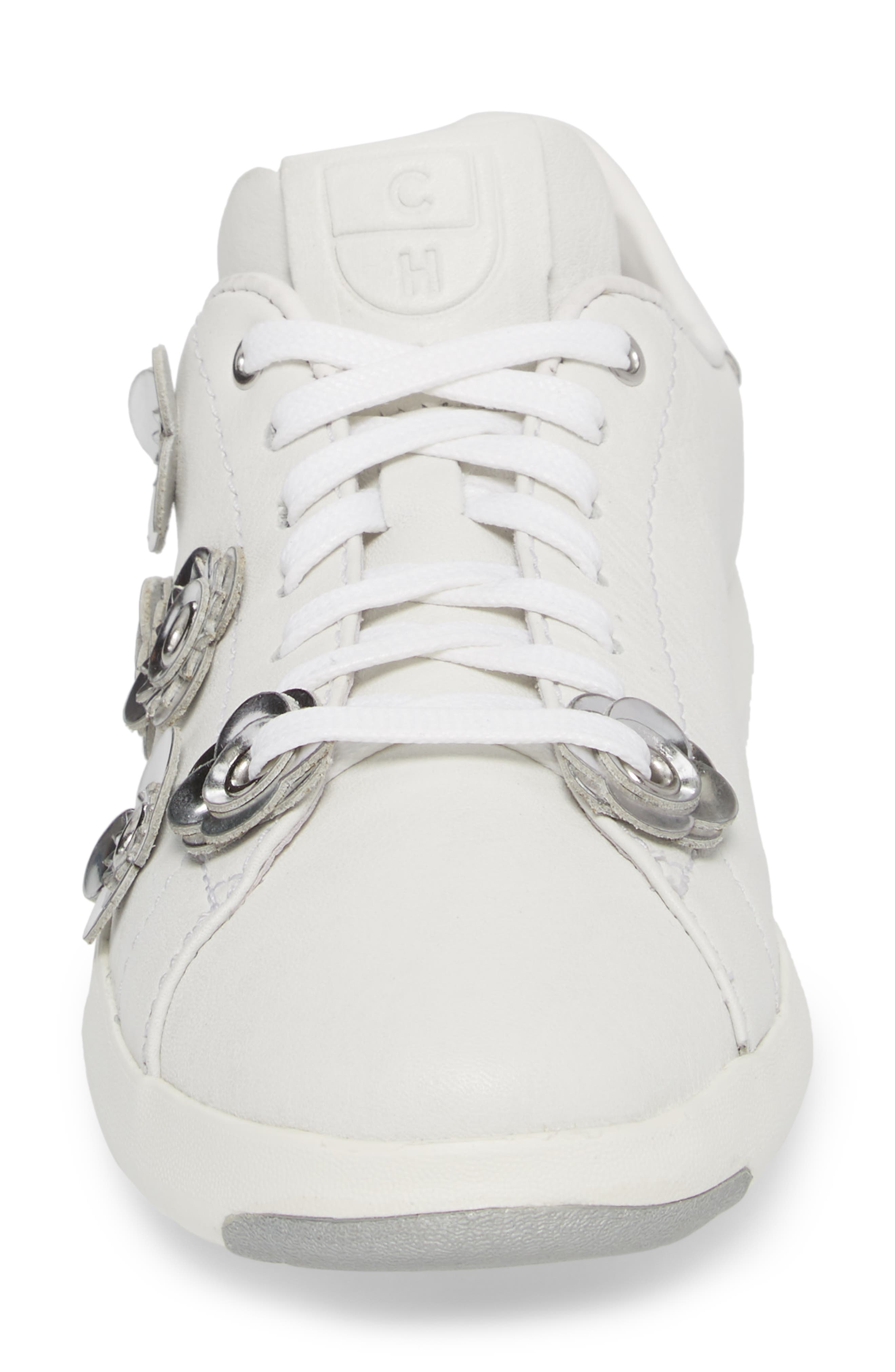 GrandPro Tennis Sneaker,                             Alternate thumbnail 4, color,                             White Leather