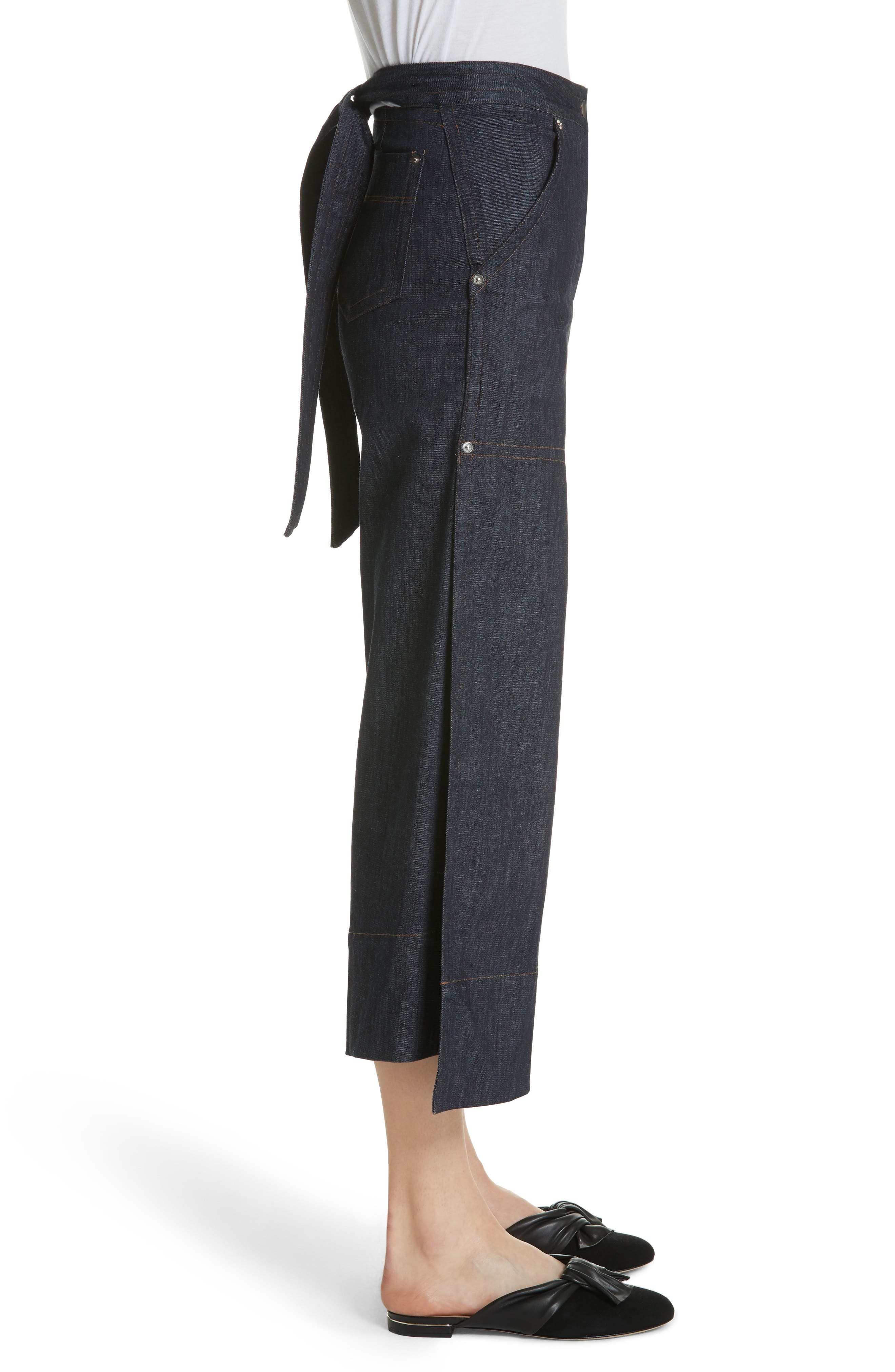 Alternate Image 4  - Yigal Azrouël Panel Front Wide Leg Crop Jeans