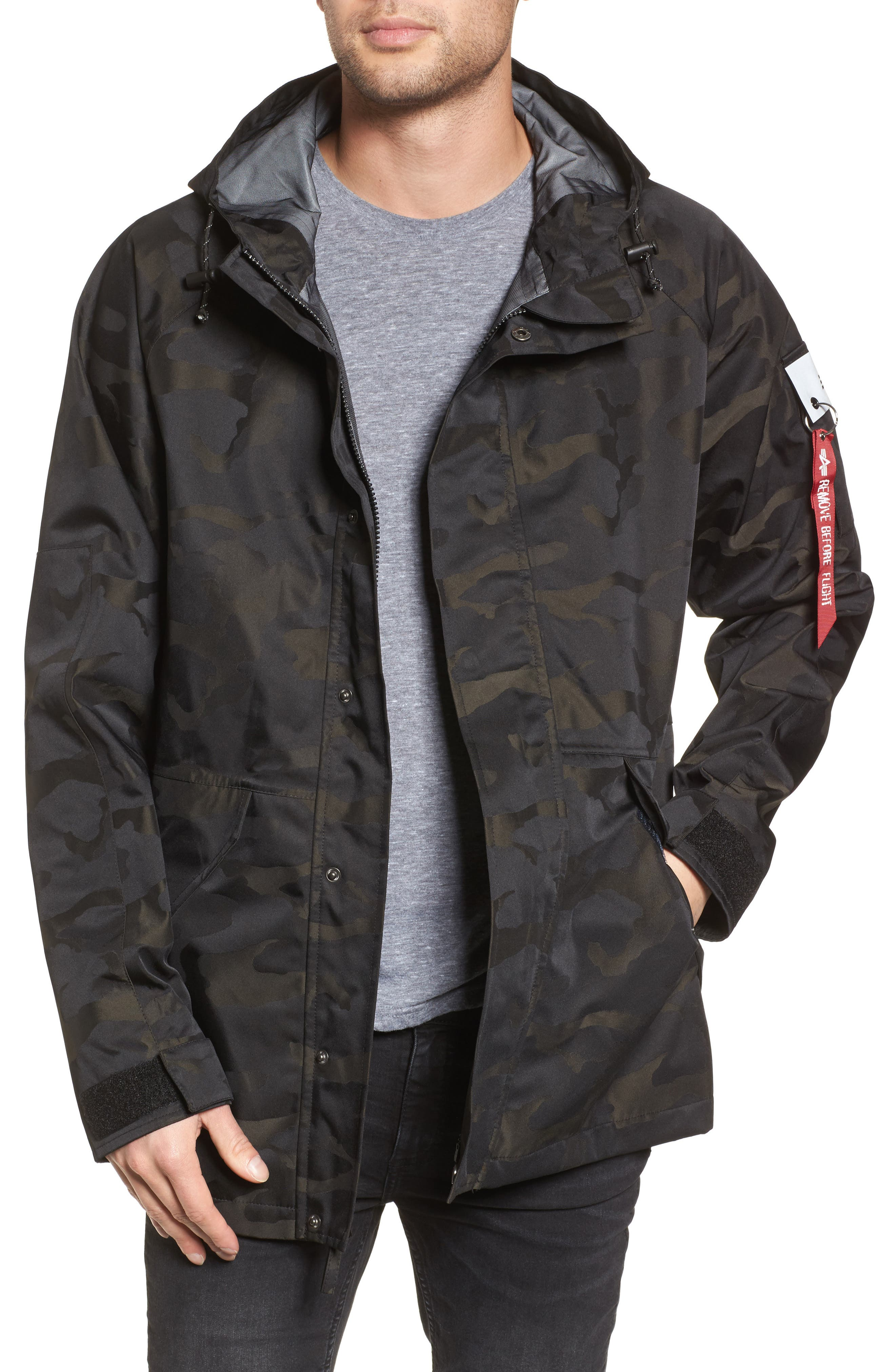 Torrent Camo Jacket,                         Main,                         color, Black Camo