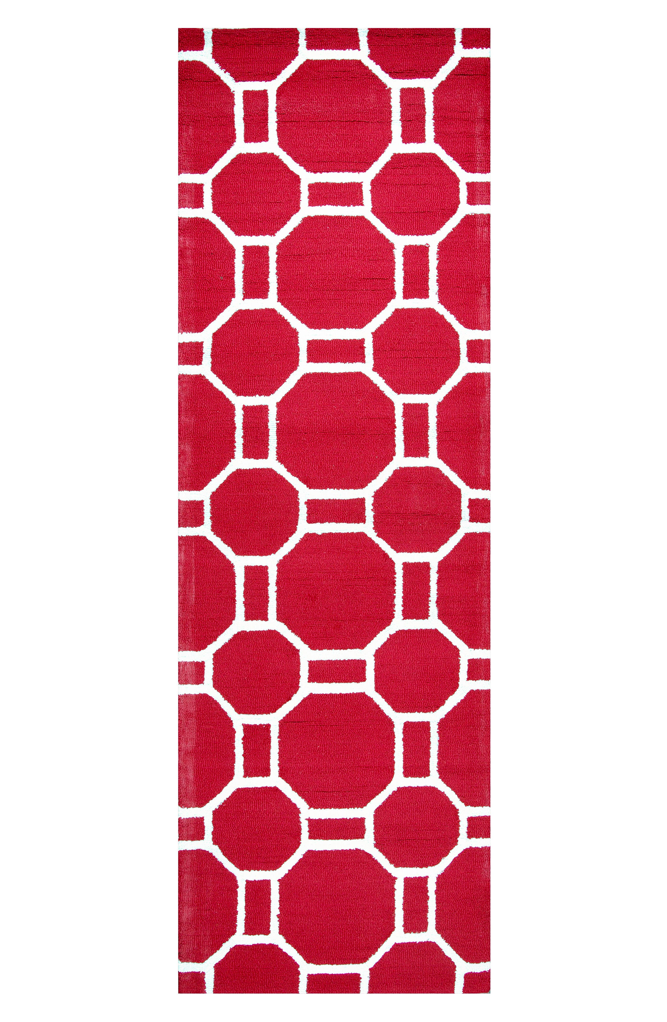 Azzura Hill Adrienna Rug,                             Alternate thumbnail 3, color,                             Red
