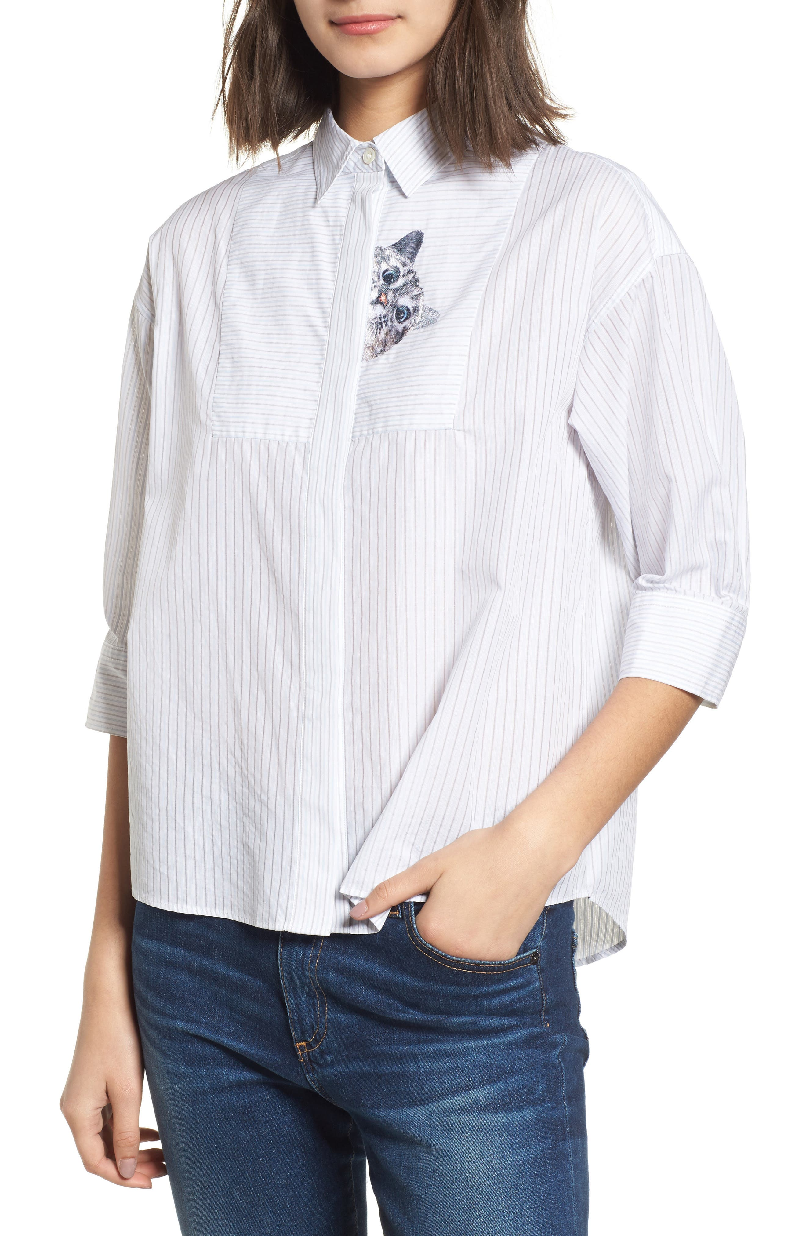 Babines Shirt,                         Main,                         color, White