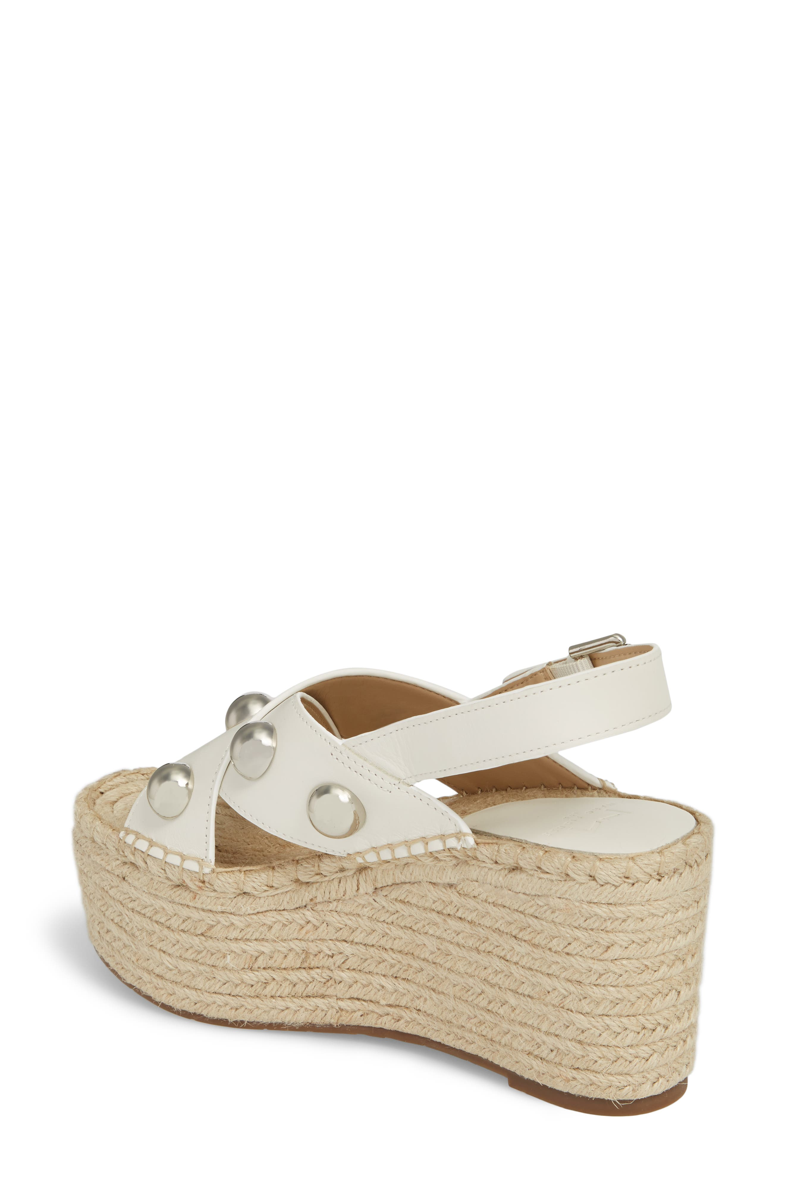 Rella Espadrille Platform Sandal,                             Alternate thumbnail 2, color,                             Ivory Leather