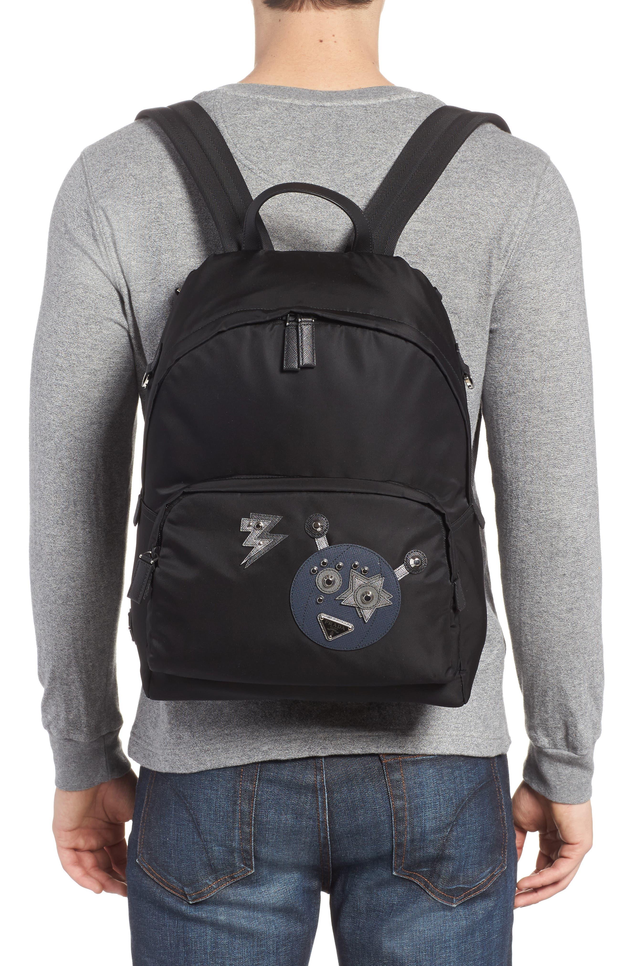 Robot Backpack,                             Alternate thumbnail 2, color,                             F0g52 Nero+Baltic