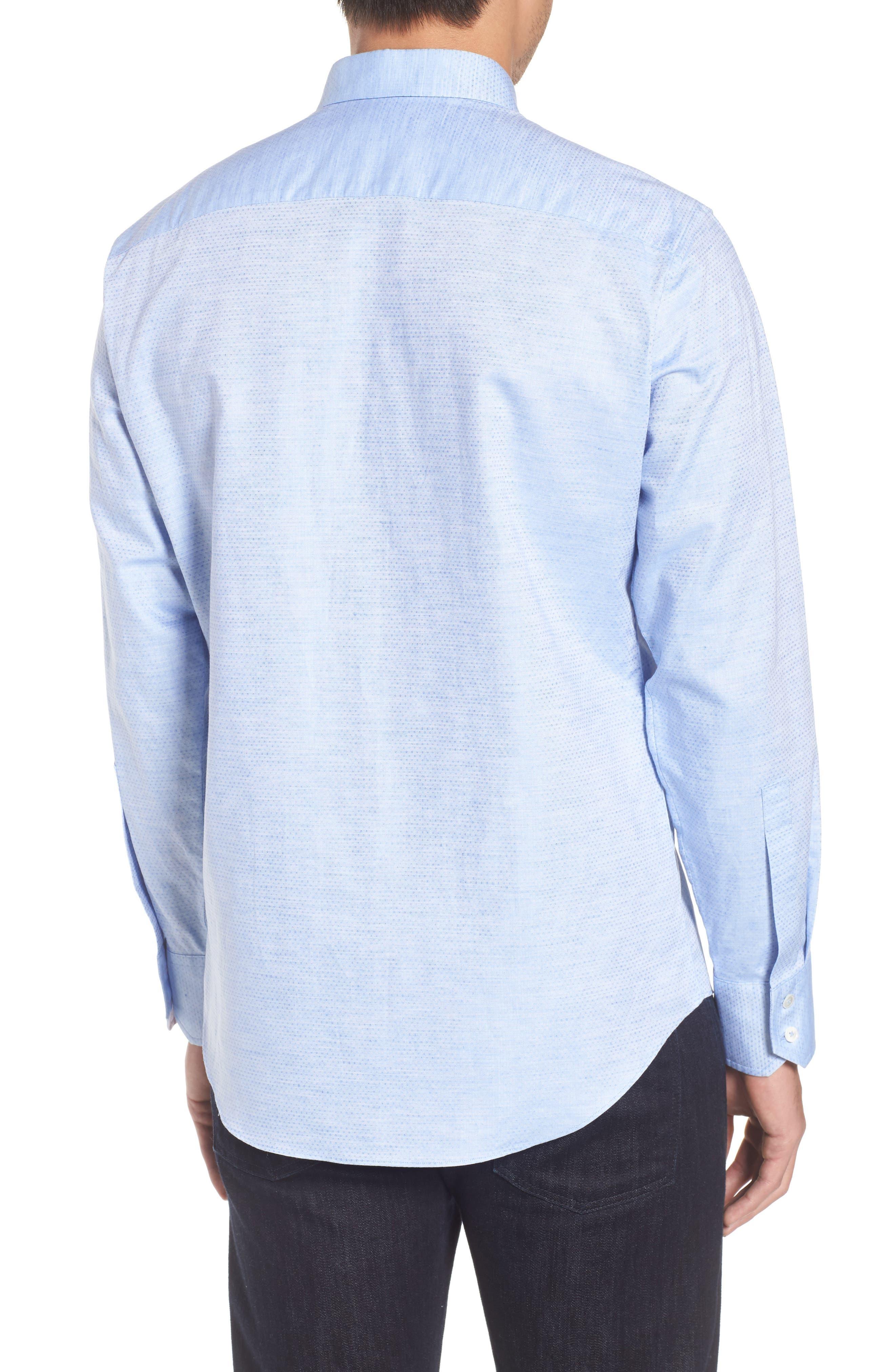 Gomis Regular Fit Dobby Sport Shirt,                             Alternate thumbnail 2, color,                             Light Blue