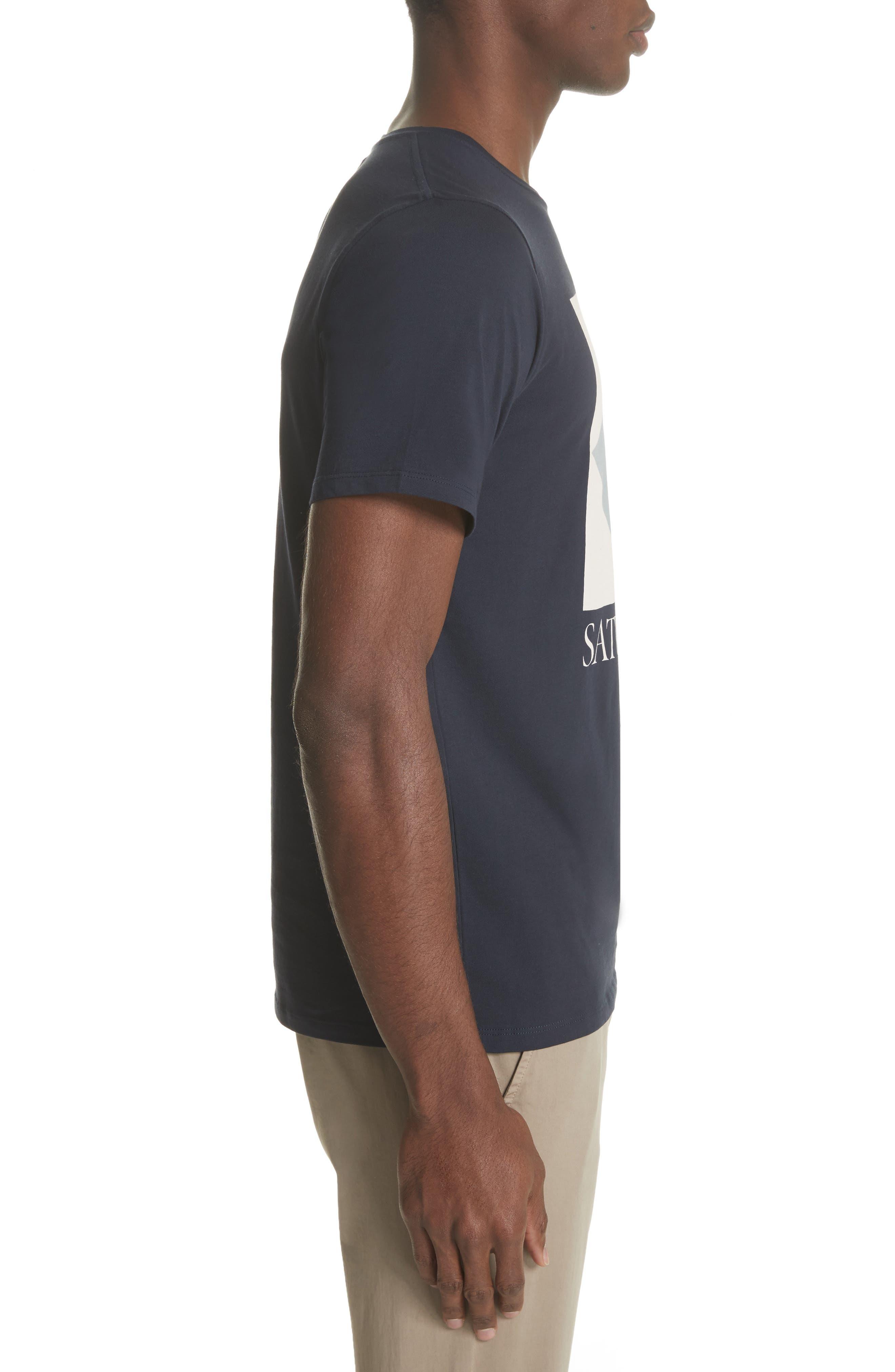 Diamond Graphic T-Shirt,                             Alternate thumbnail 3, color,                             Midnight