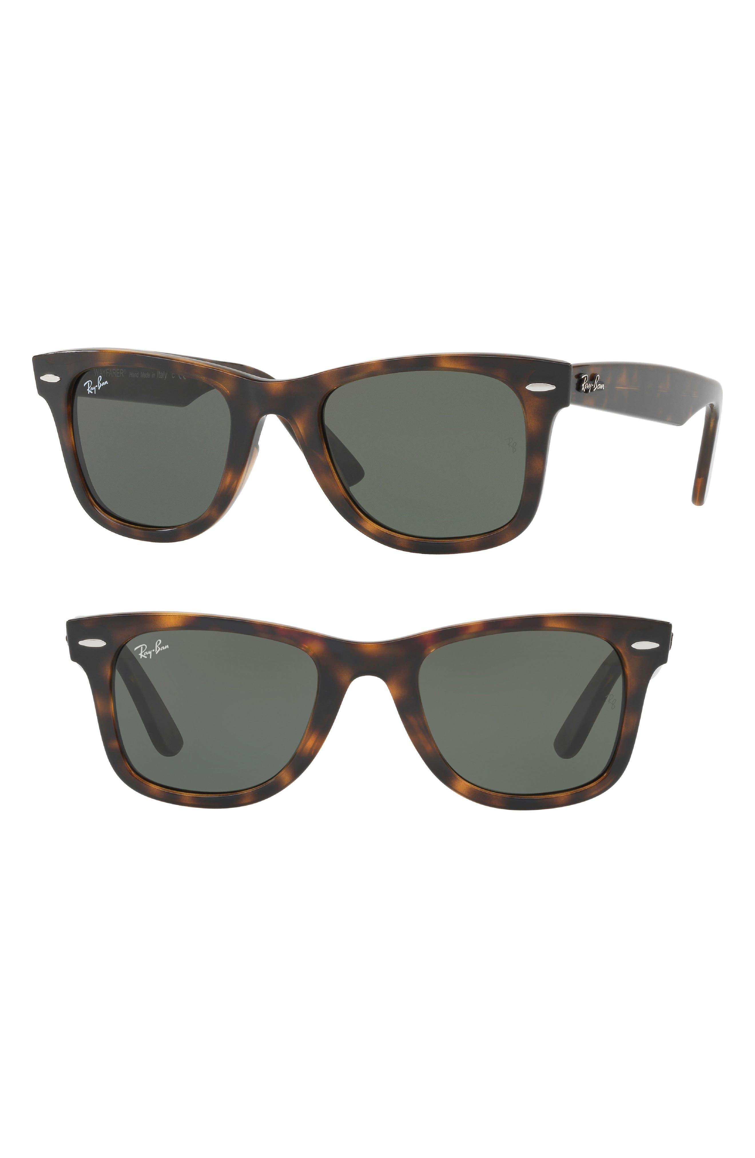 Wayfarer Ease 50mm Sunglasses,                             Main thumbnail 1, color,                             Light Havana