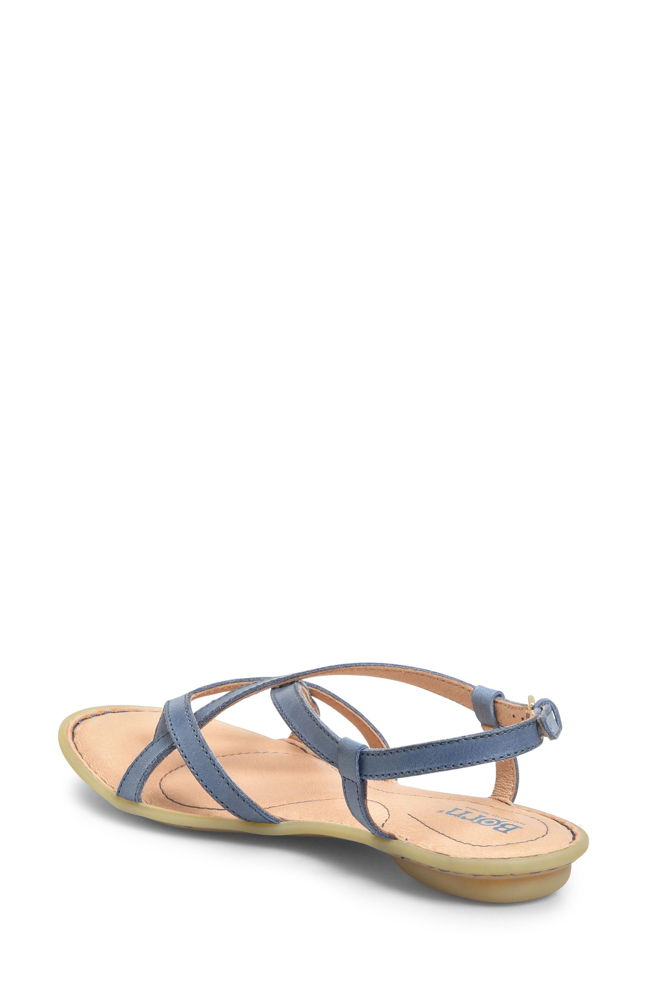 Mai Strap Sandal,                             Alternate thumbnail 2, color,                             Navy Leather