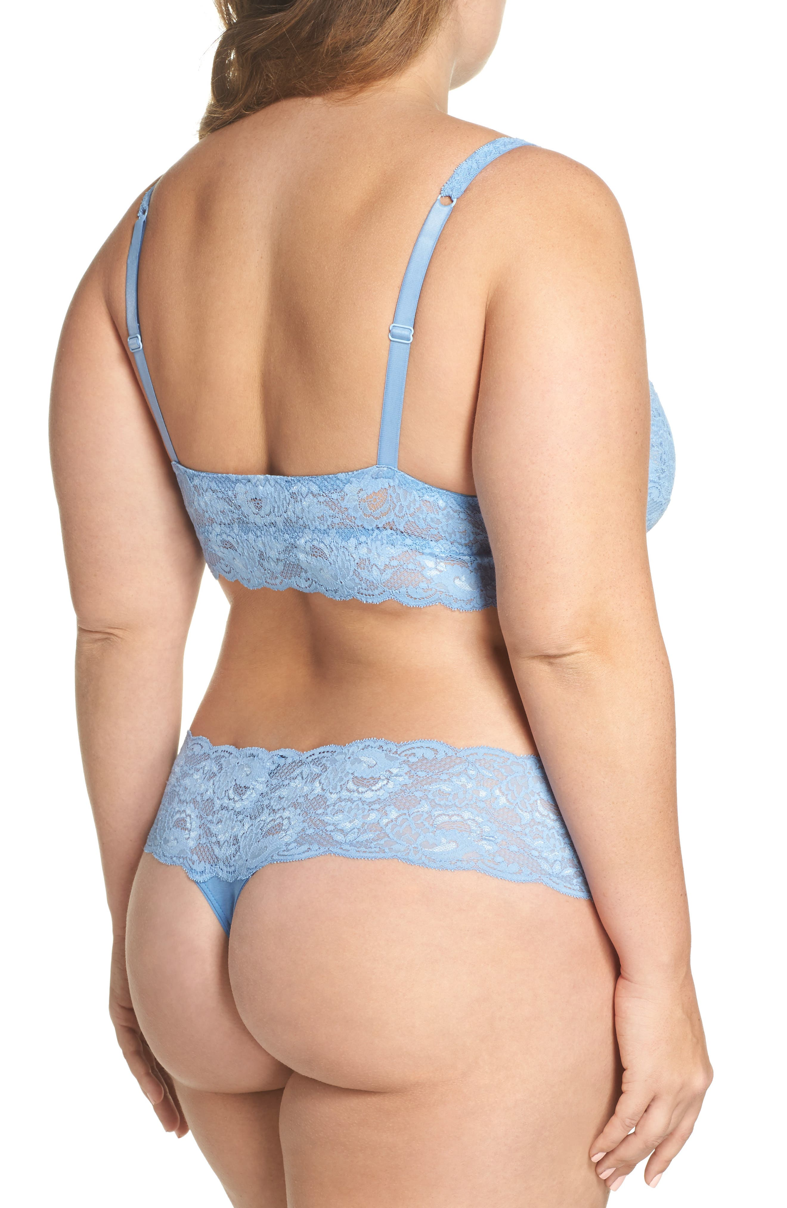 'Never Say Never Lovely' Thong,                             Alternate thumbnail 6, color,                             Jewel Blue