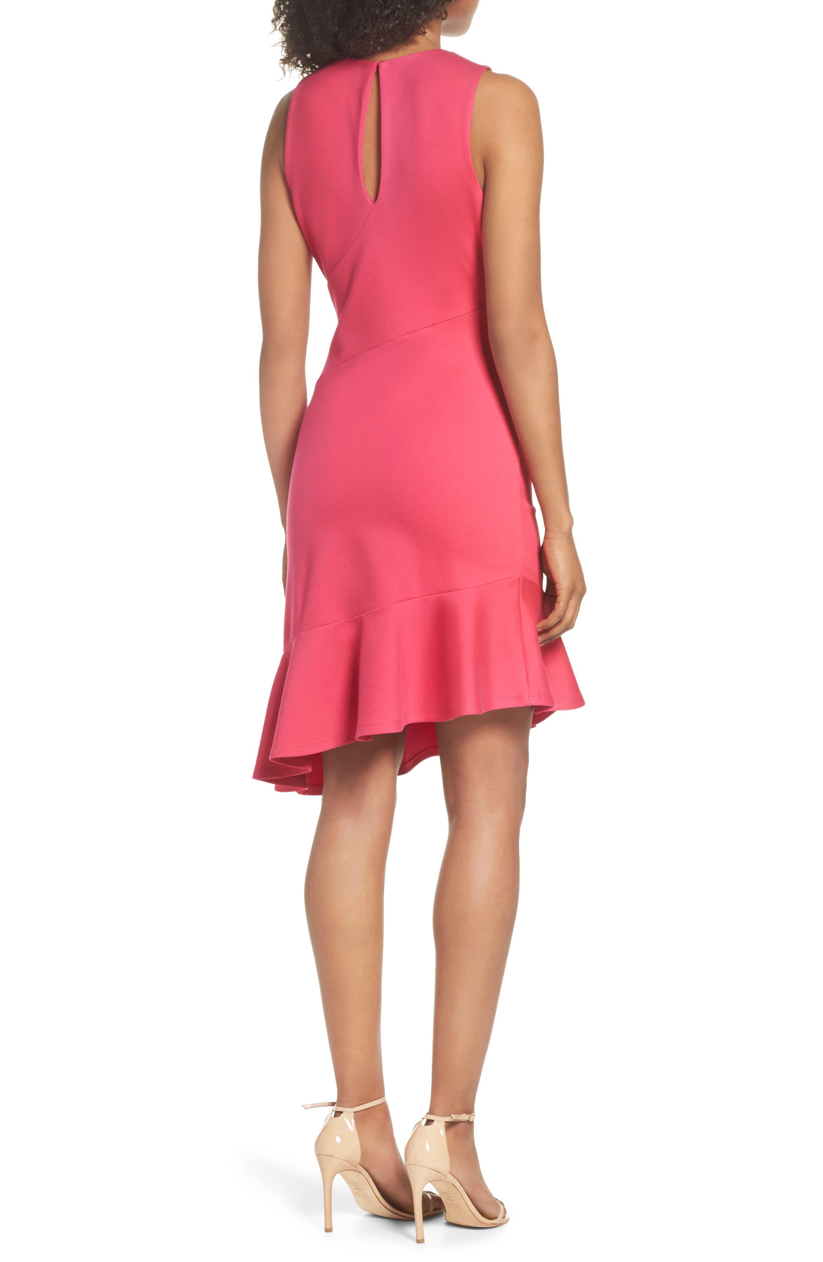 Asymmetric Sheath Dress,                             Alternate thumbnail 2, color,                             Pink Lilac