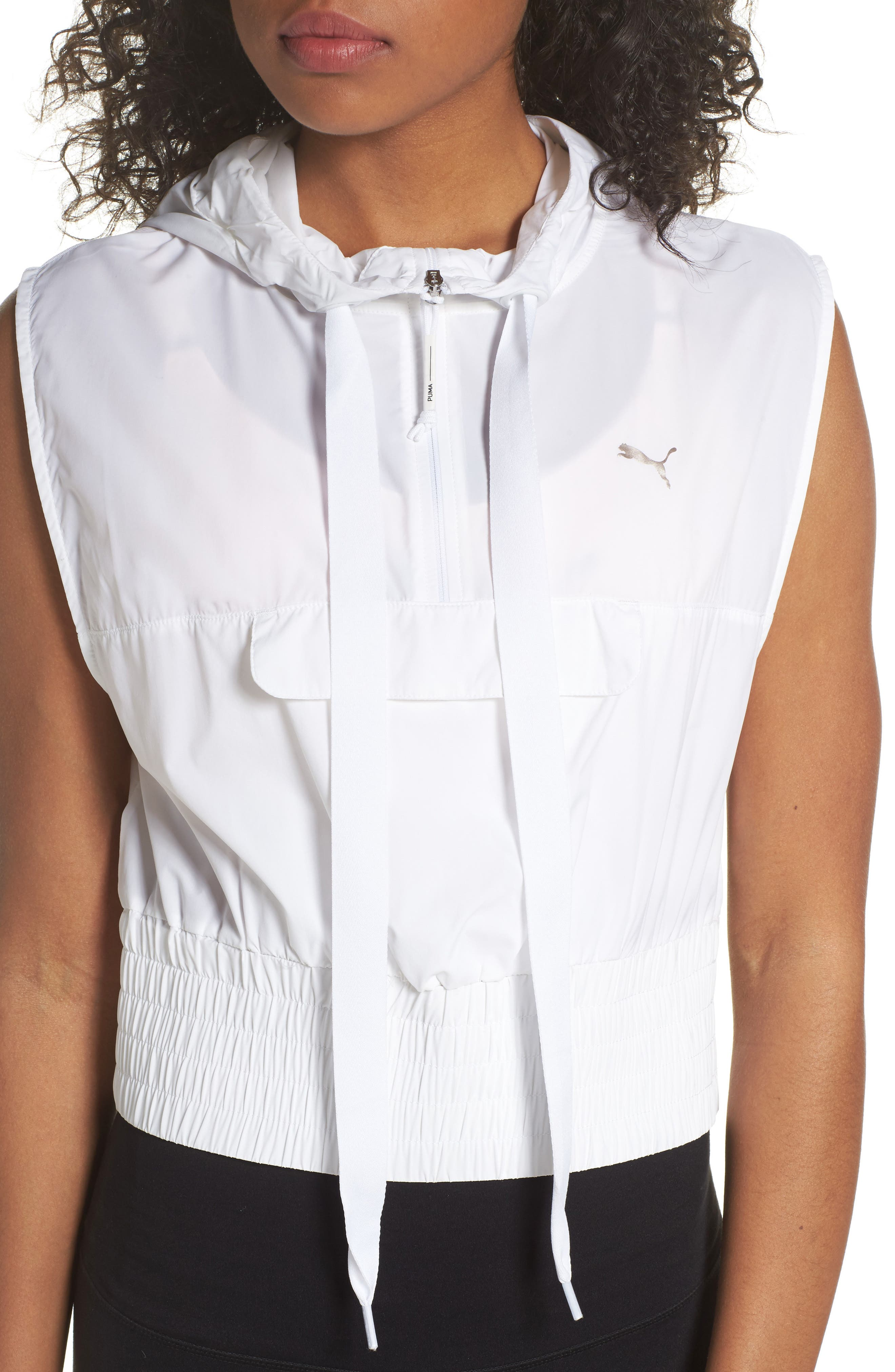 En Pointe Half Zip Pullover,                             Alternate thumbnail 4, color,                             Puma White