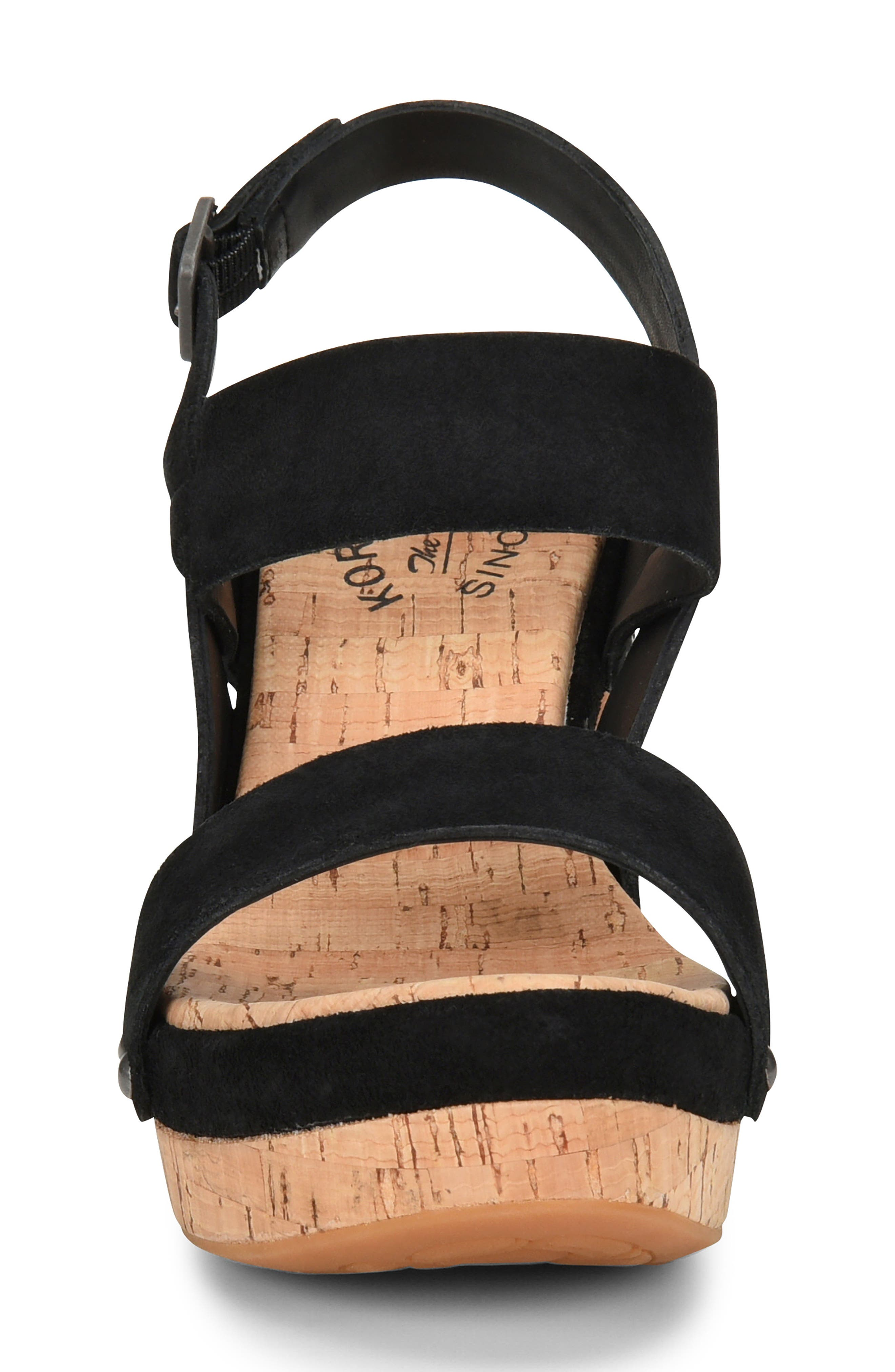 Palmdale Platform Sandal,                             Alternate thumbnail 4, color,                             Black Suede
