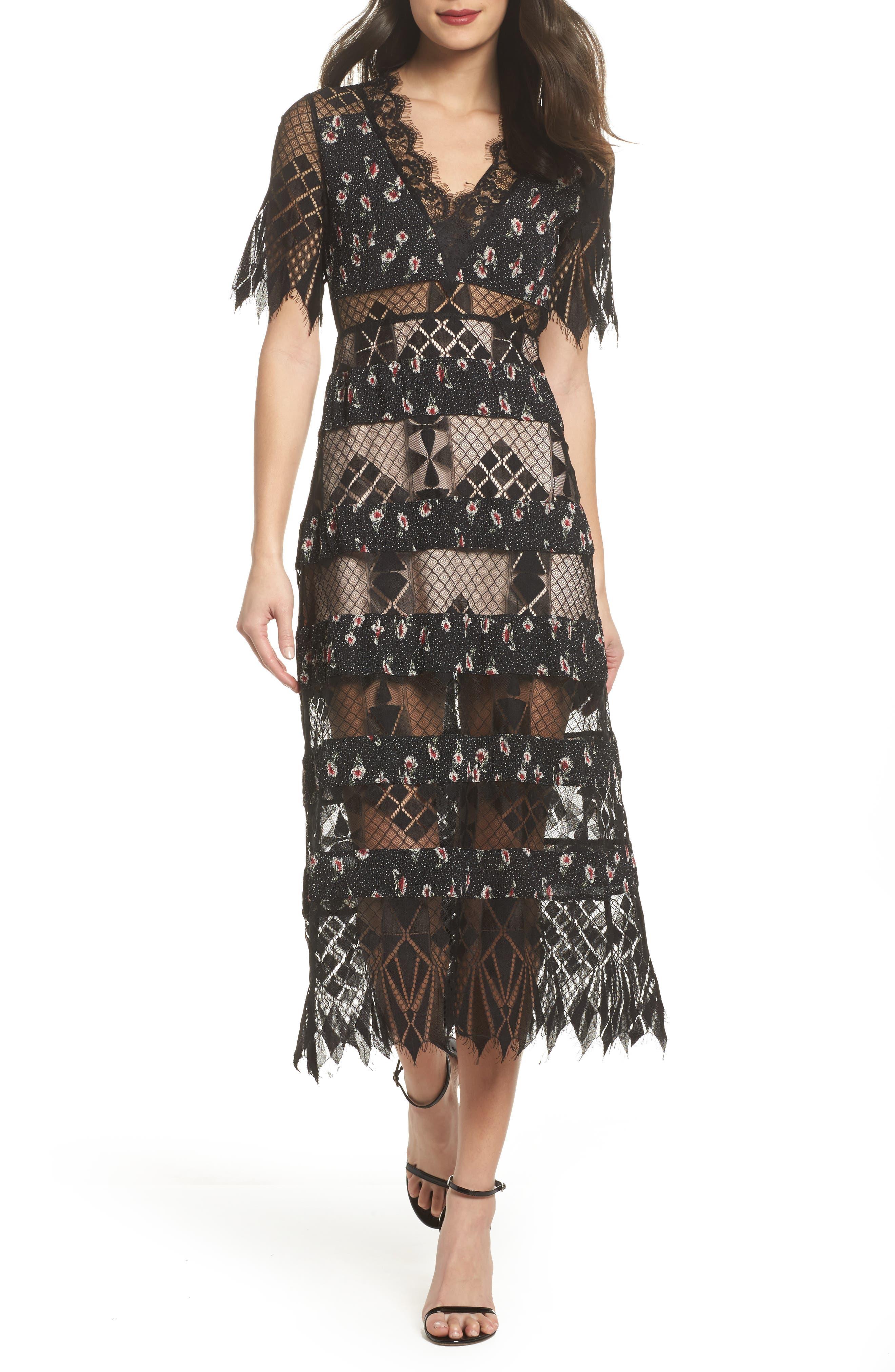 Alternate Image 1 Selected - Foxiedox Sweetwater Stripe Midi Dress