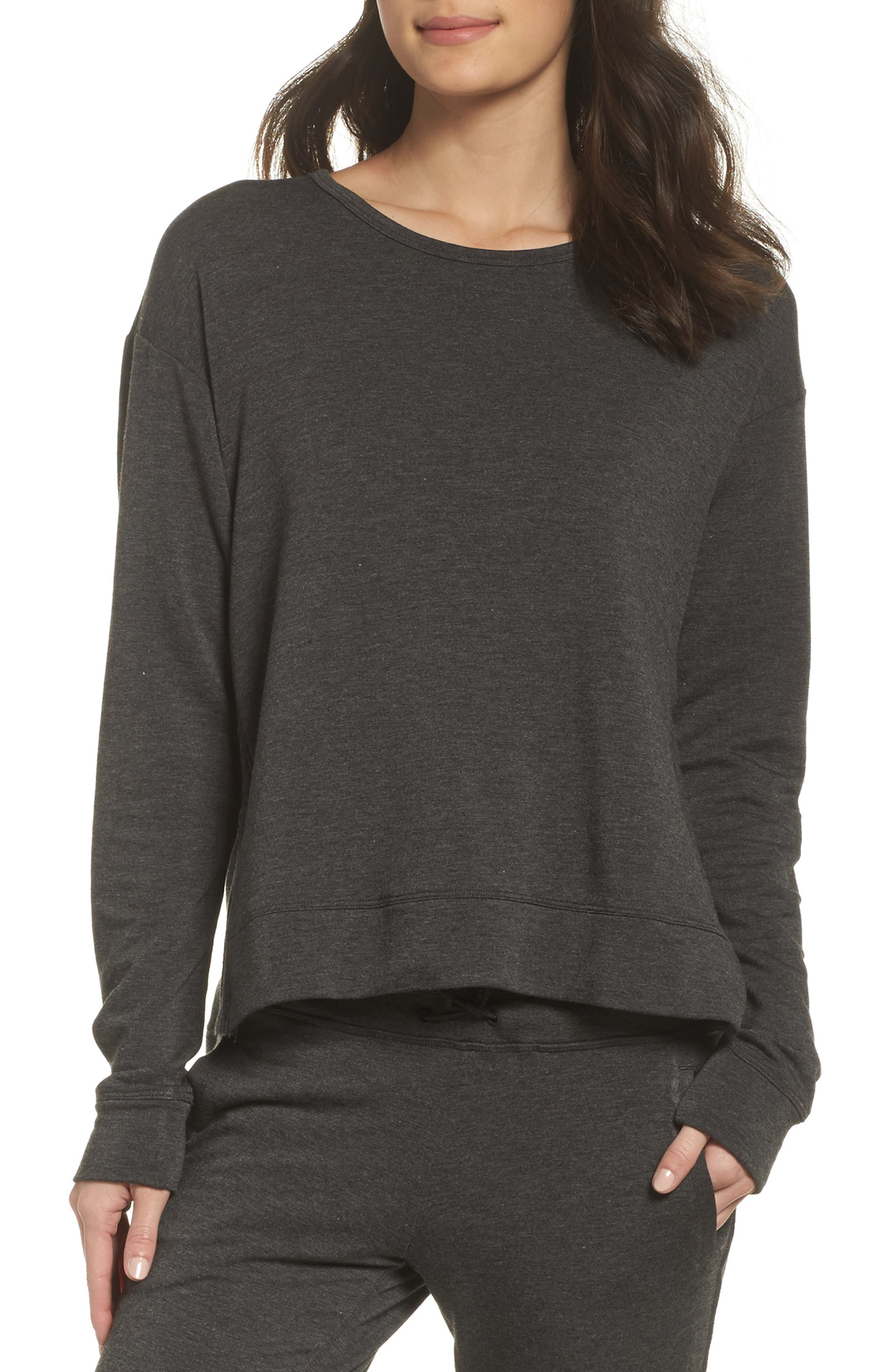 Crane Sweatshirt,                         Main,                         color, Charcoal