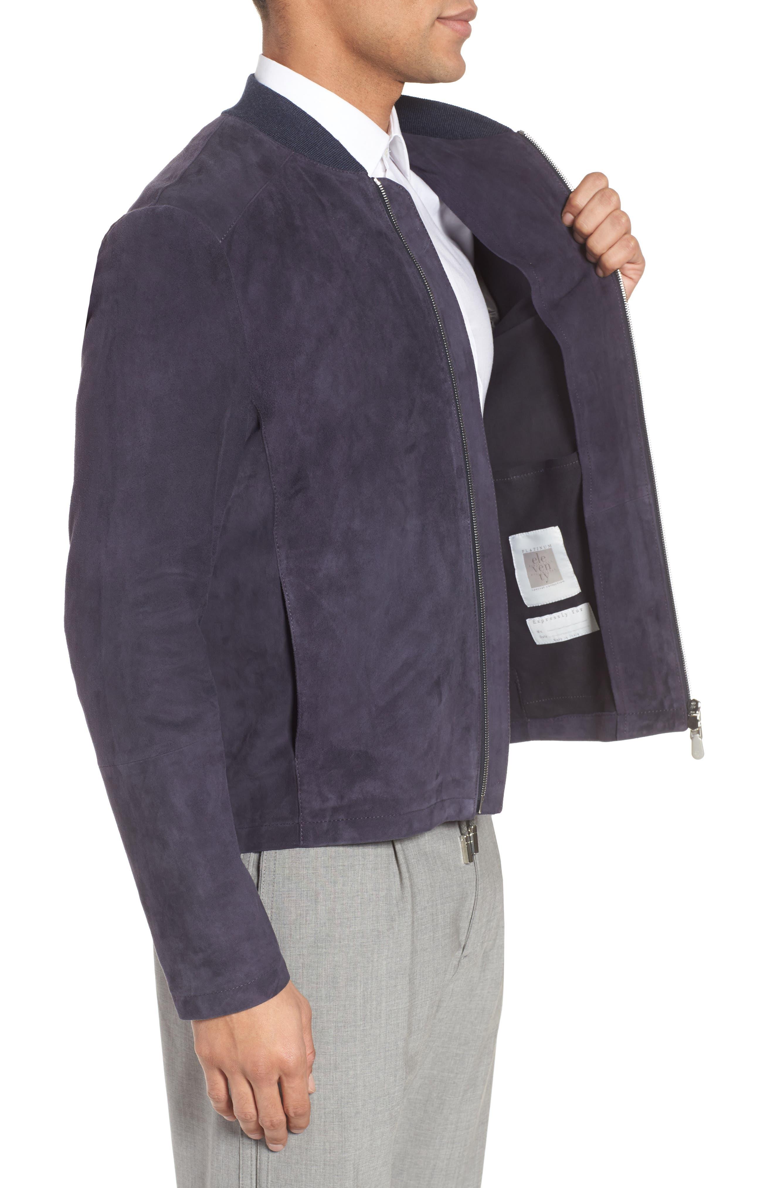 Suede Jacket,                             Alternate thumbnail 3, color,                             Royal Blue