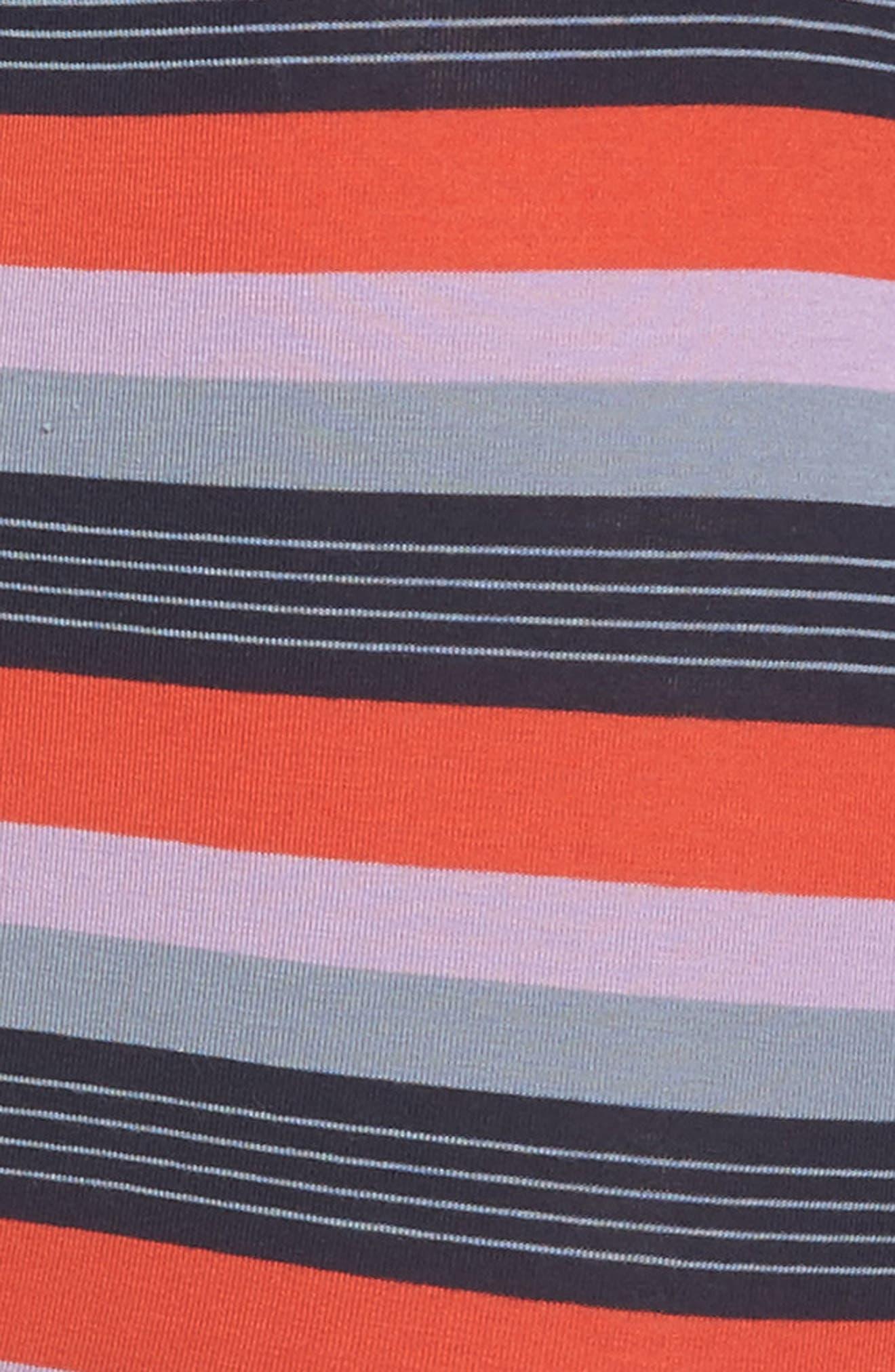 Stripe Stretch Cotton Trunks,                             Alternate thumbnail 4, color,                             Orange Multi