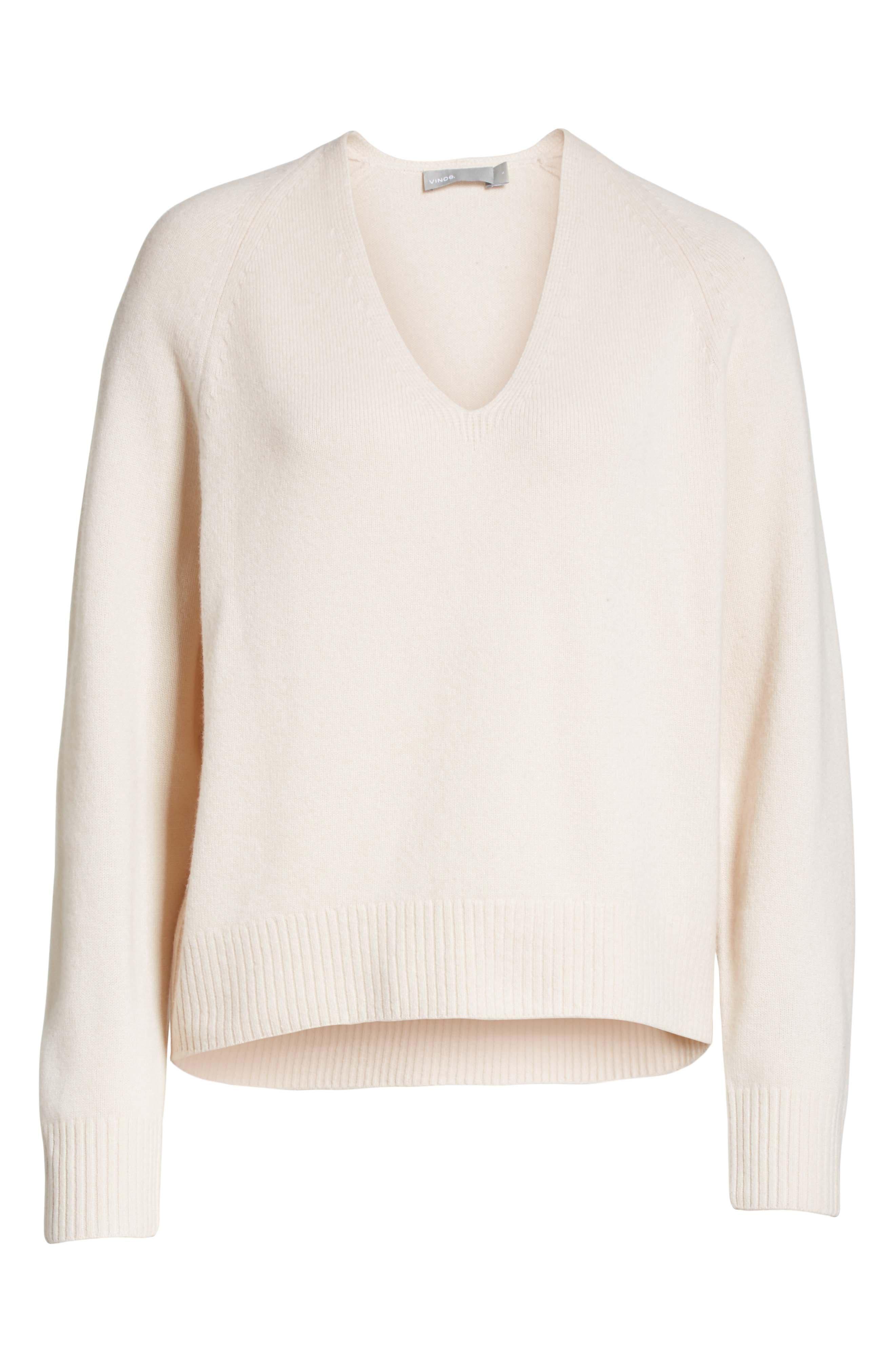 Cashmere Raglan Sleeve Sweater,                             Alternate thumbnail 6, color,                             Sandstone