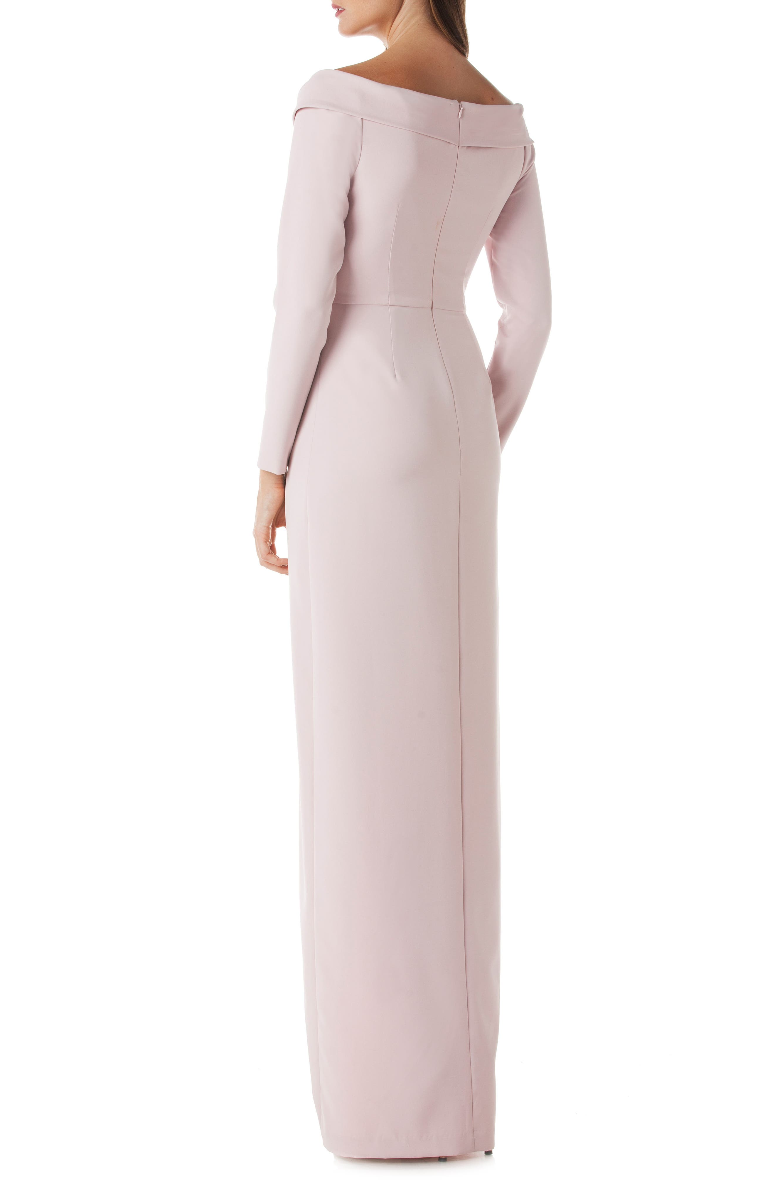Cross Front Gown,                             Alternate thumbnail 2, color,                             Blush