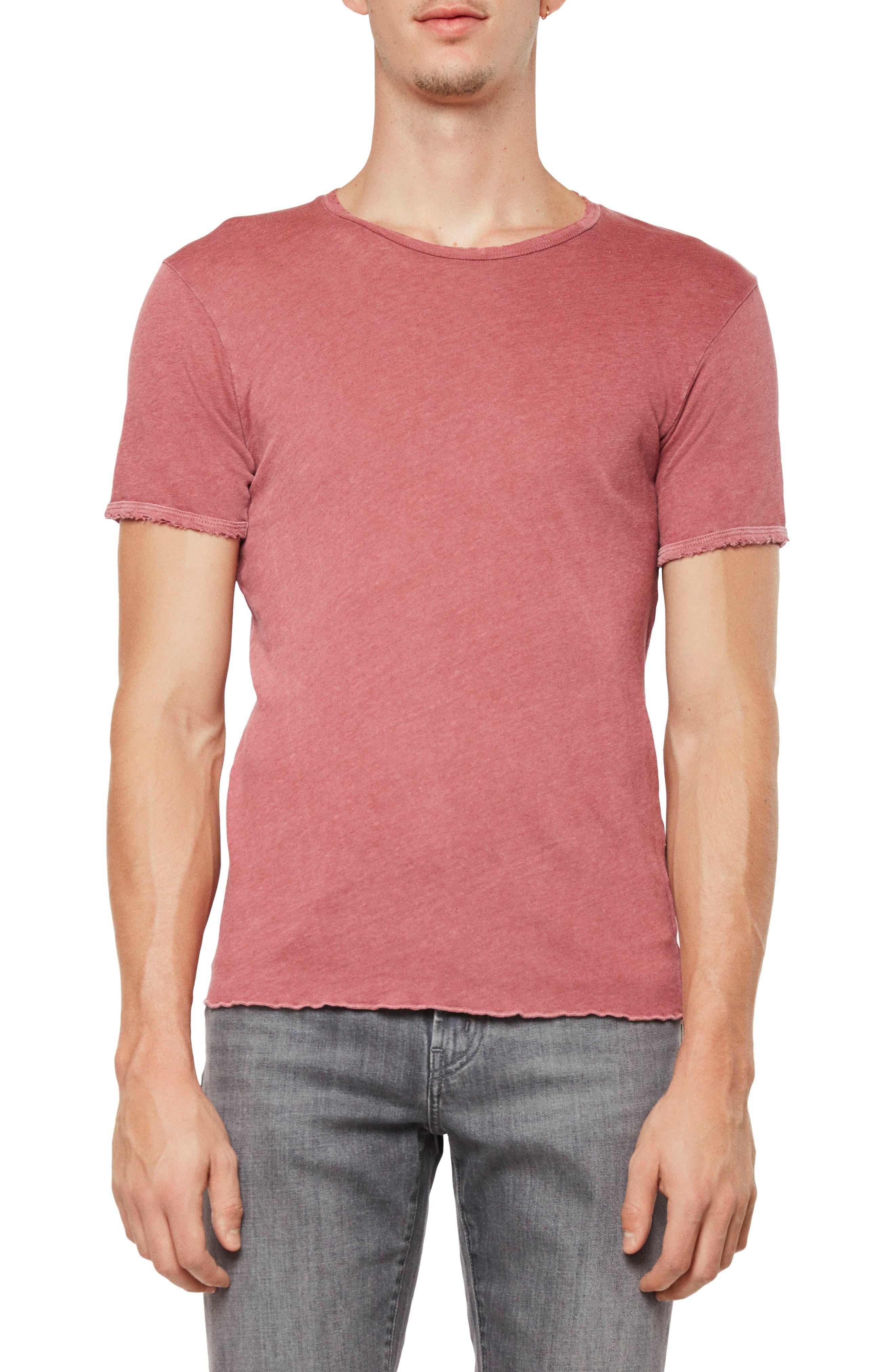 J Brand Men's Heathered Grandpa T-shirt In Distressed Karst