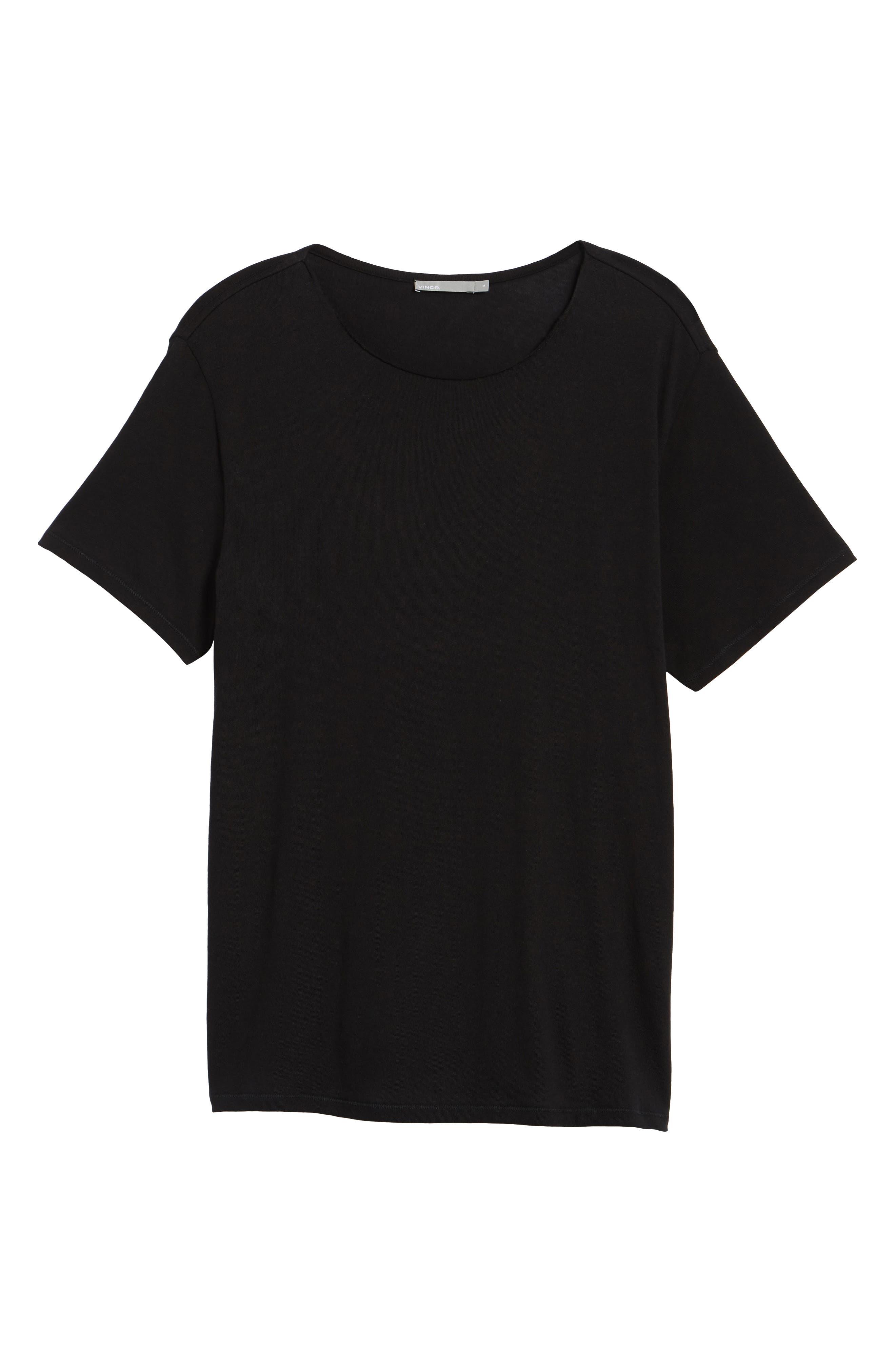 Raw Edge T-Shirt,                             Alternate thumbnail 6, color,                             Black