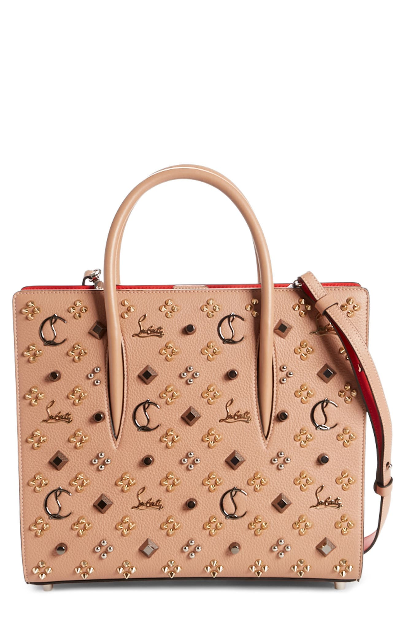 Main Image - Christian Louboutin Medium Paloma Leather Tote