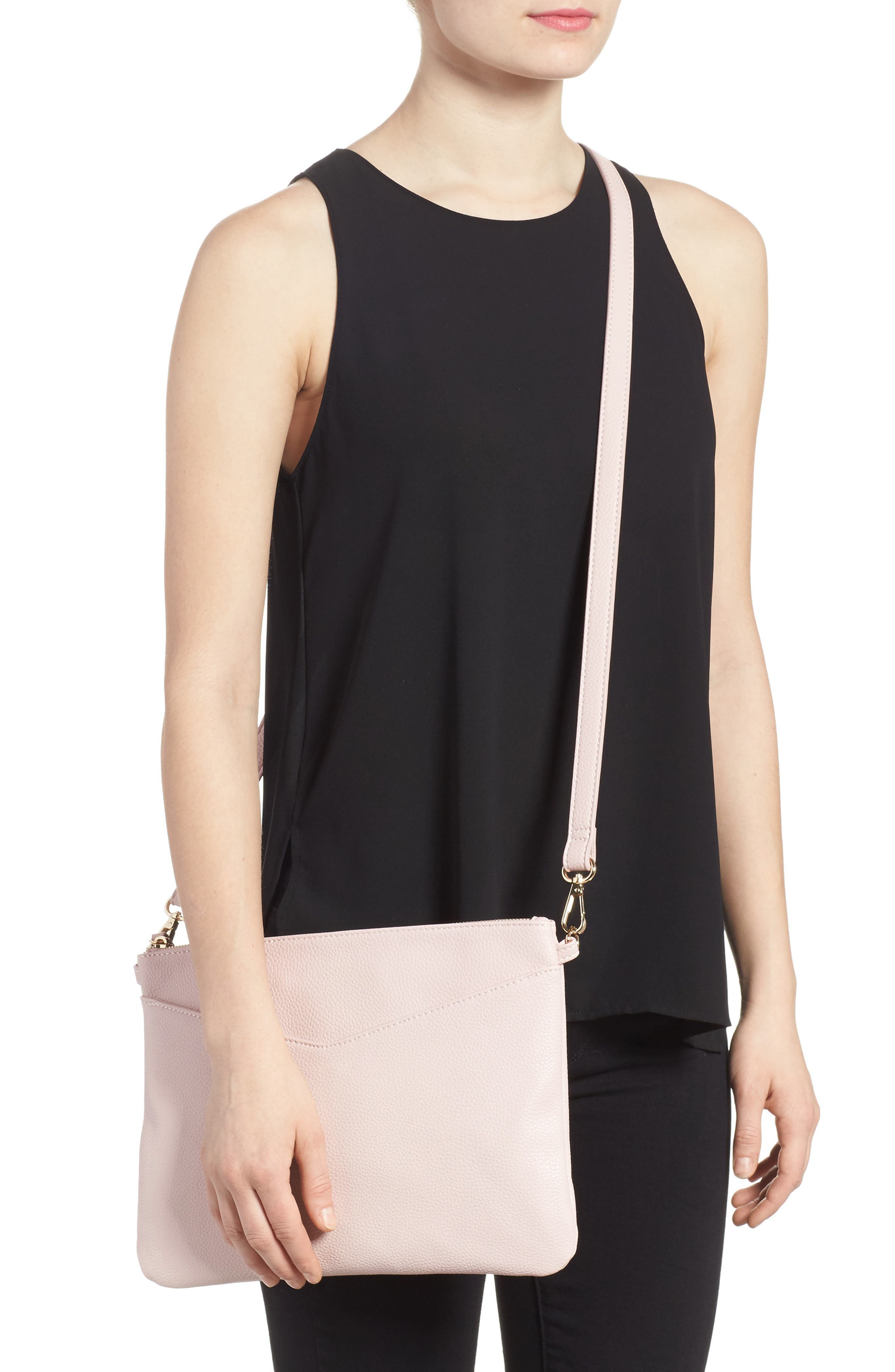 Alternate Image 2  - Emperia Faux Leather Crossbody Bag