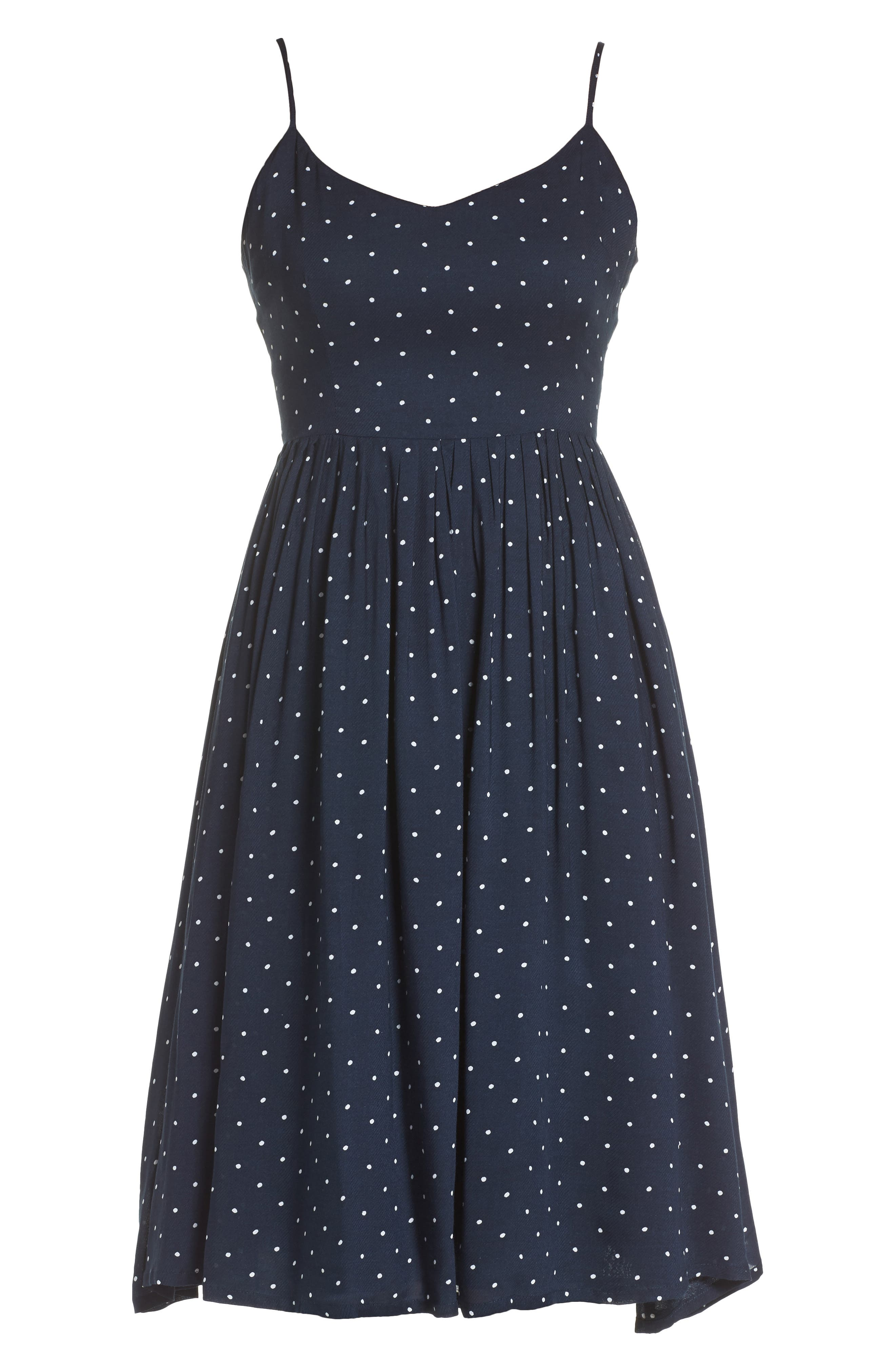 Sloane Polka Dot Dress,                             Alternate thumbnail 6, color,                             Navy