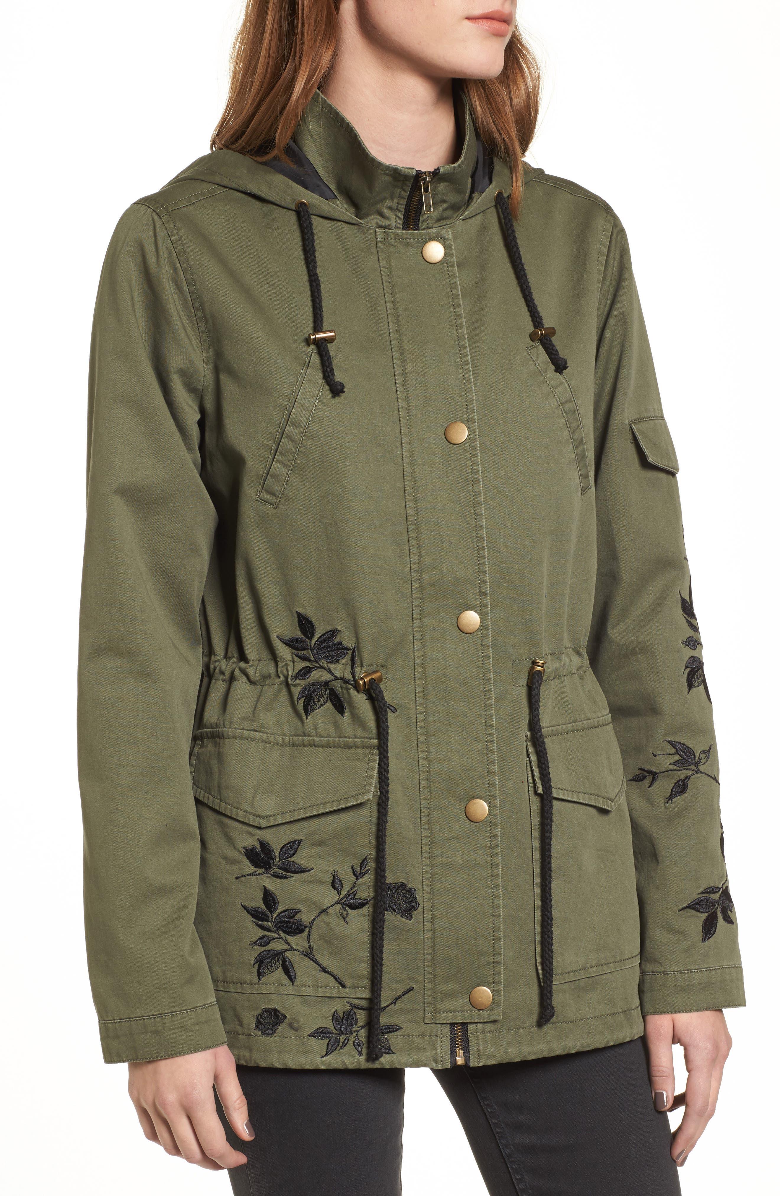Embroidered Jacket,                             Alternate thumbnail 2, color,                             Olive