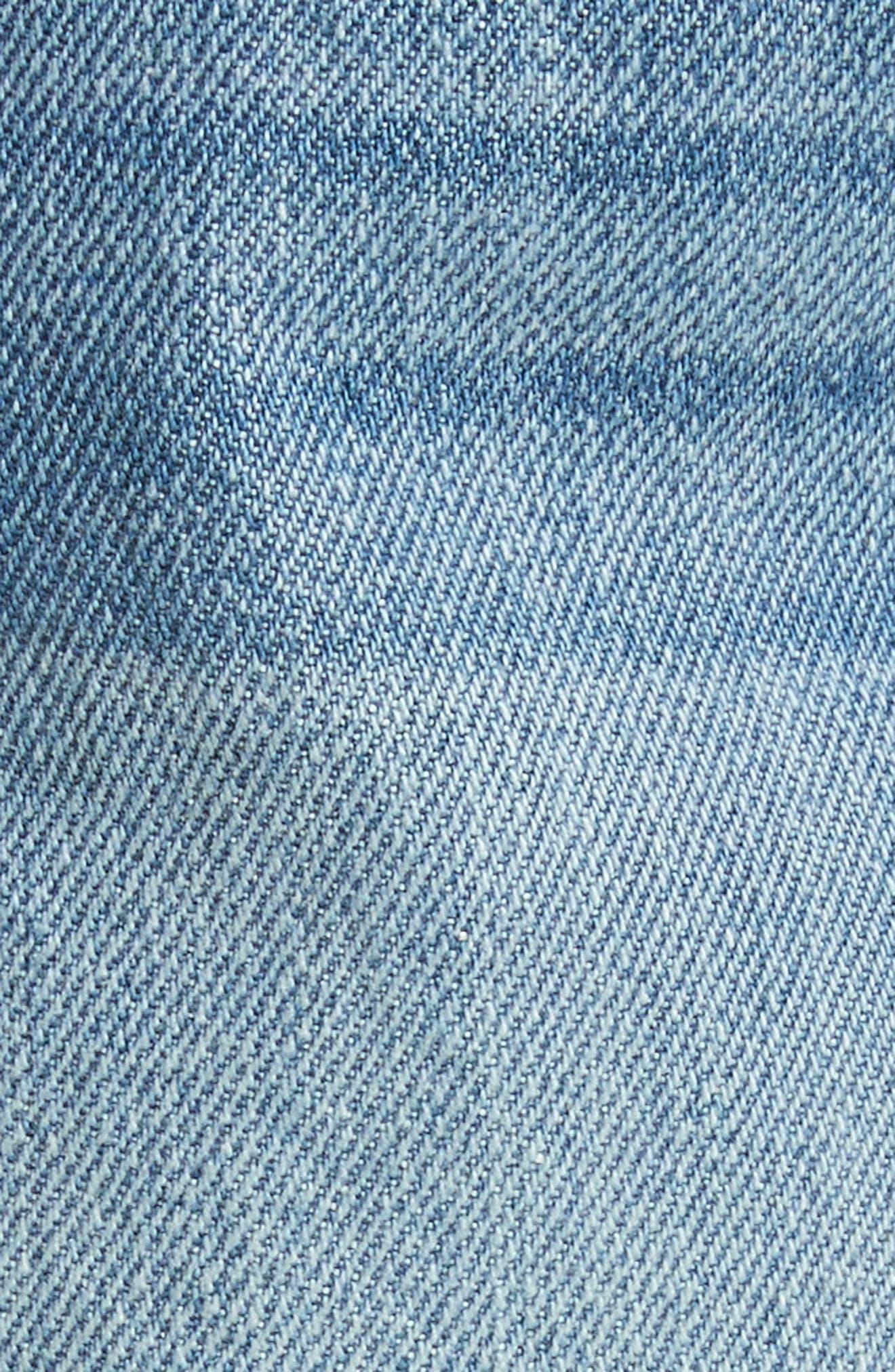 Le Grand Garçon Fray Cuff Denim Shorts,                             Alternate thumbnail 5, color,                             Heston