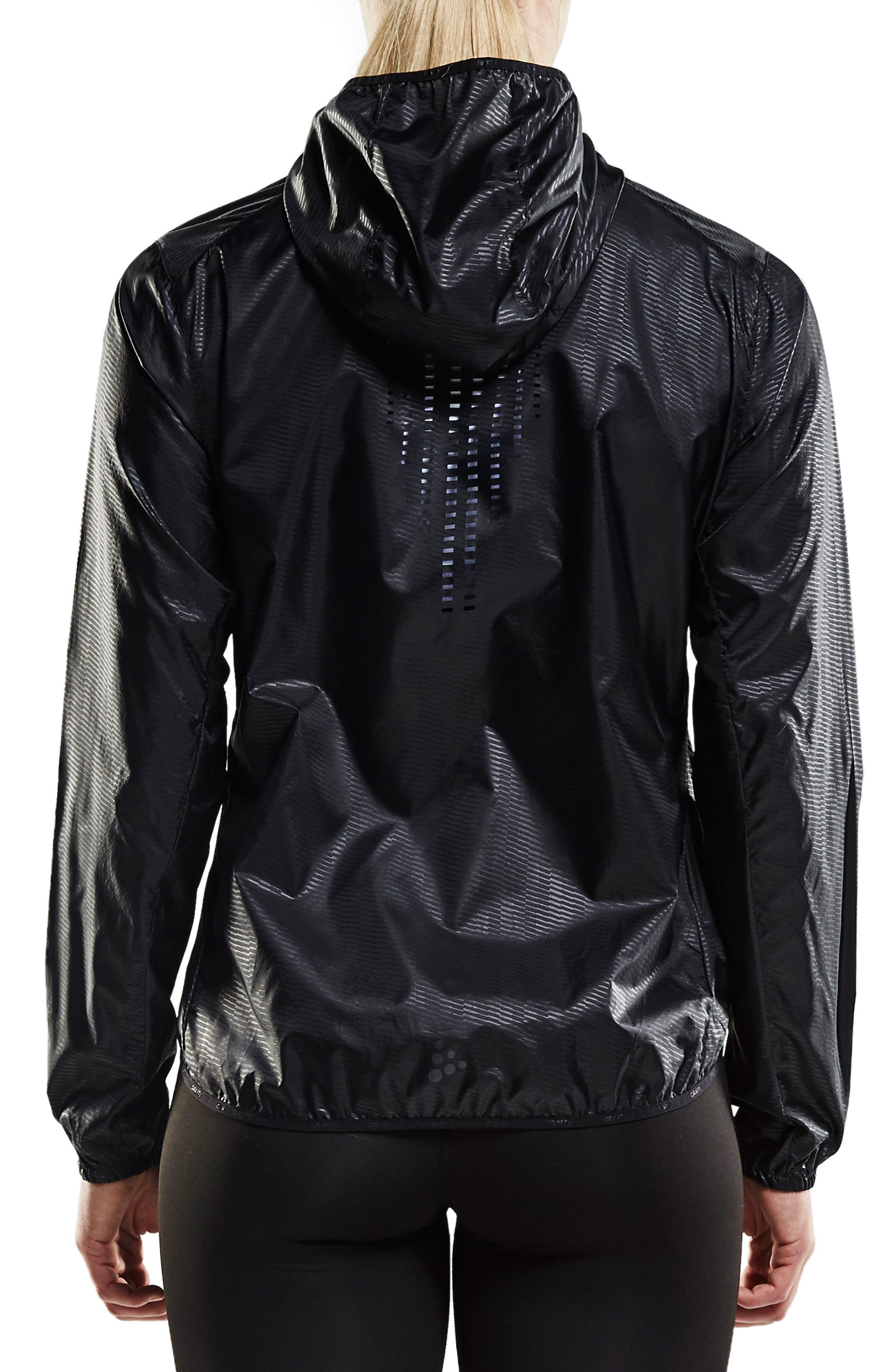 Packable Hooded Jacket,                             Alternate thumbnail 2, color,                             Black