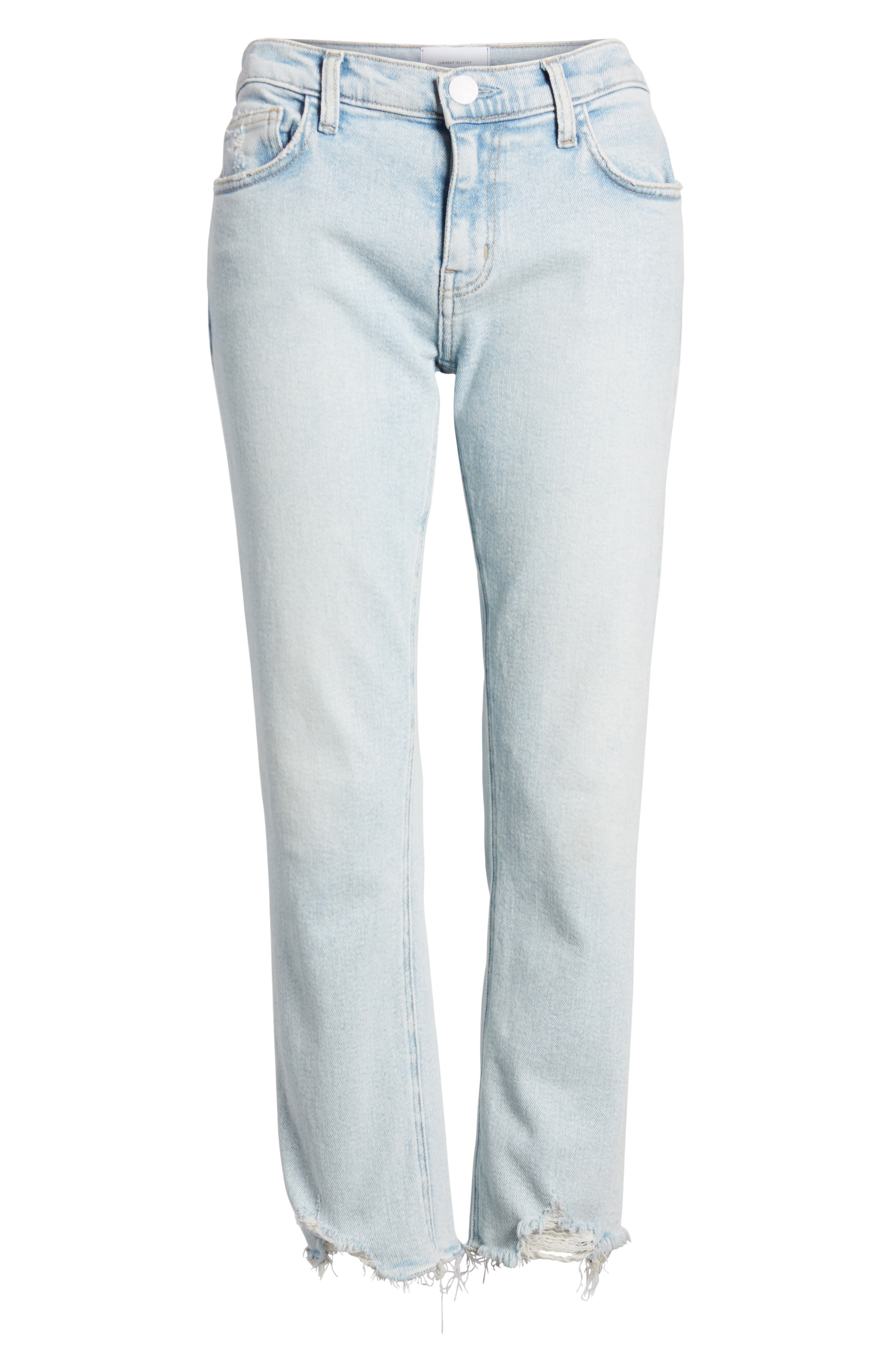 The Cropped Straight Leg Jeans,                             Alternate thumbnail 9, color,                             Cascade W/ Punk Hem