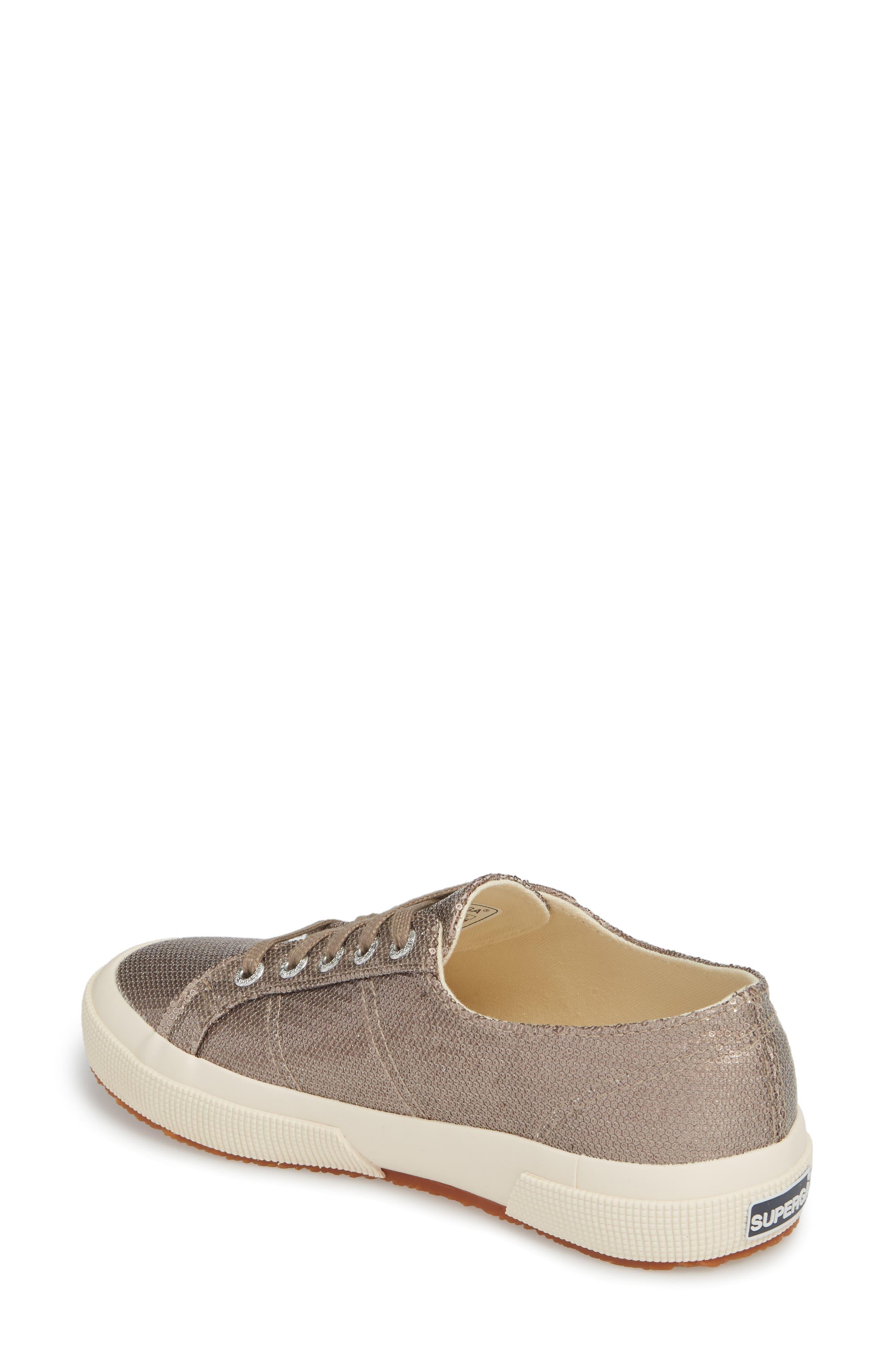 2750 Micro Sequin Sneaker,                             Alternate thumbnail 2, color,                             Bronze
