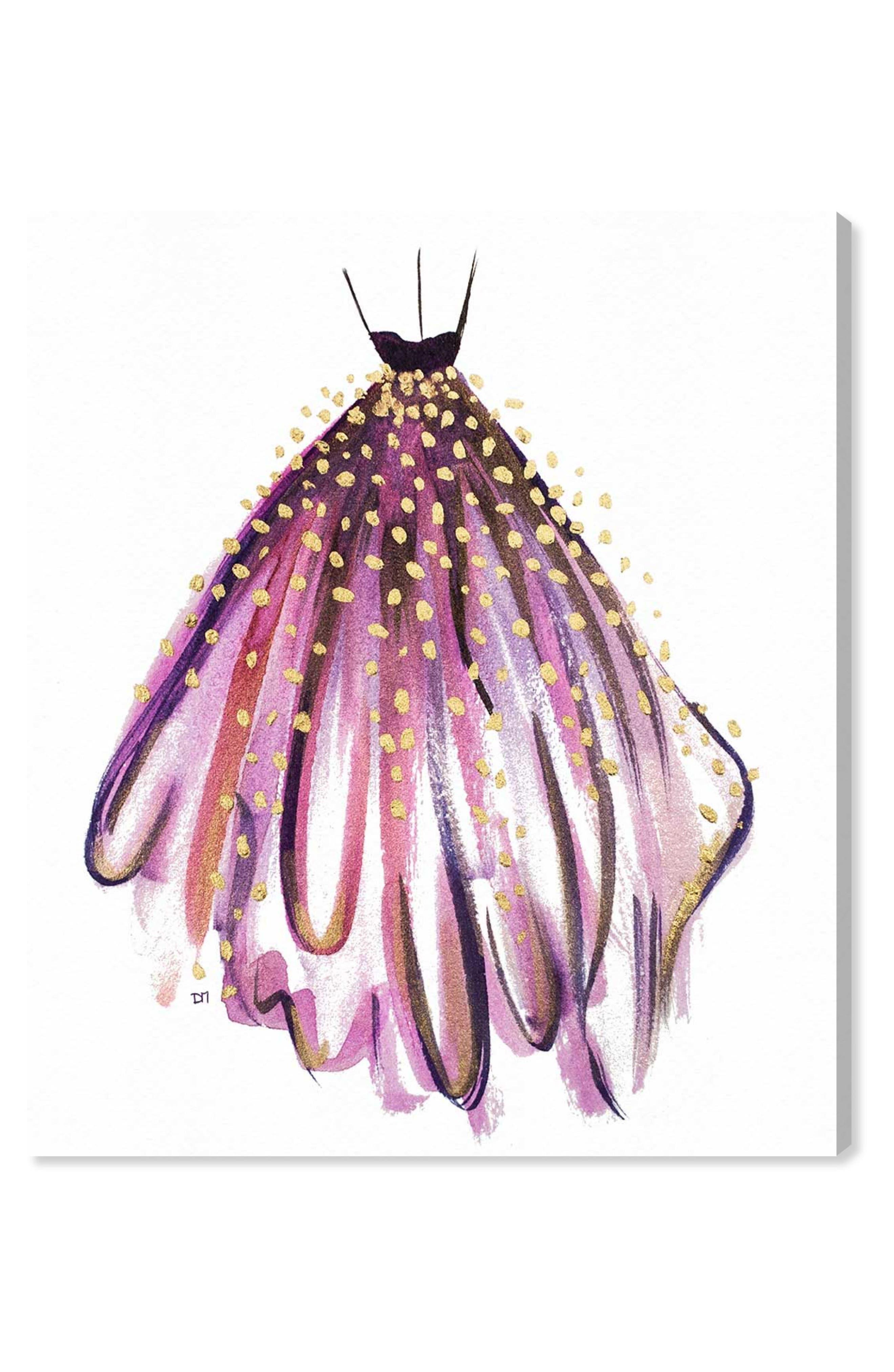 Main Image - Oliver Gal Purple Magic Canvas Wall Art