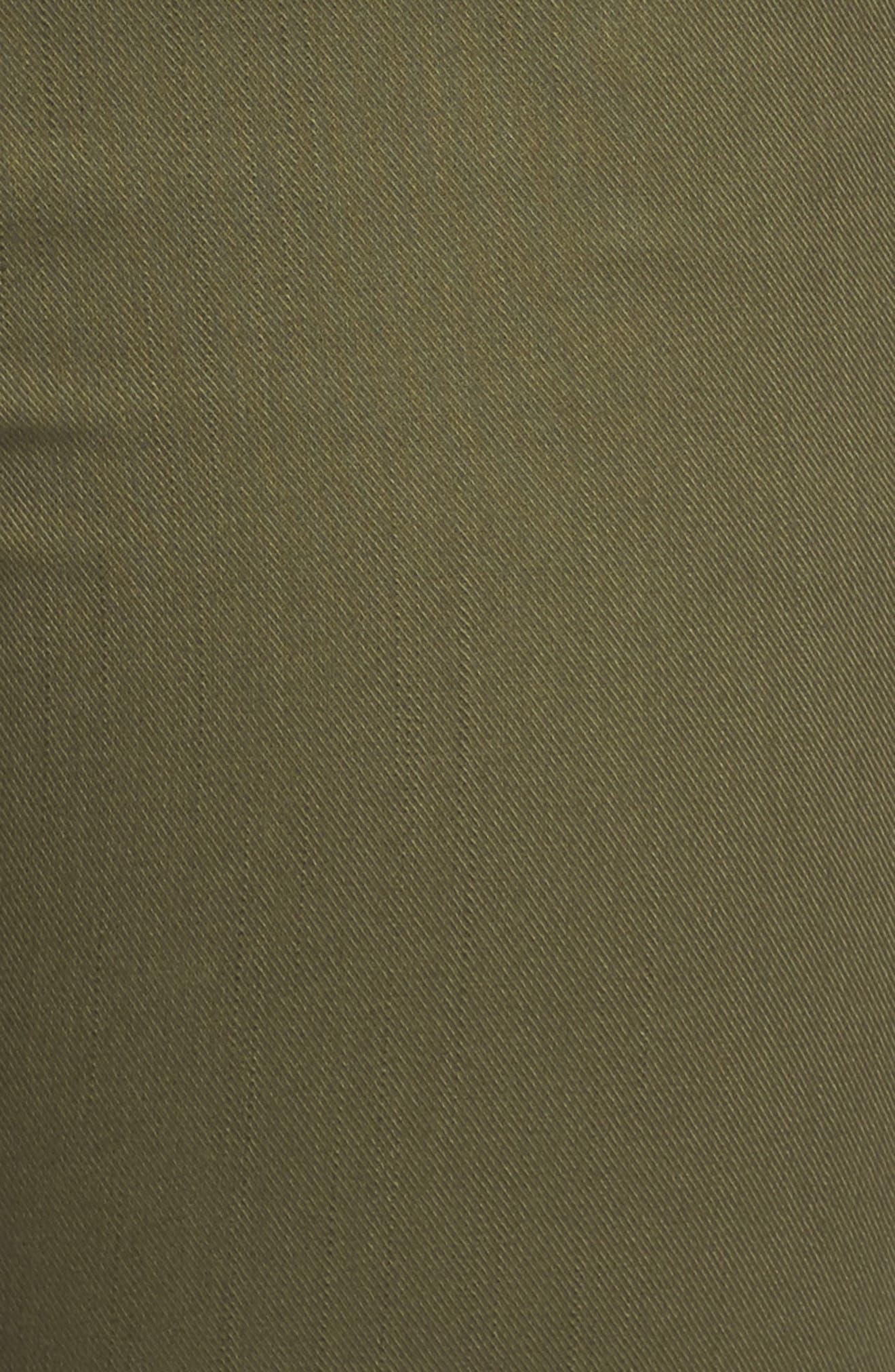 Wide Leg Ankle Pants,                             Alternate thumbnail 5, color,                             Olive Moss