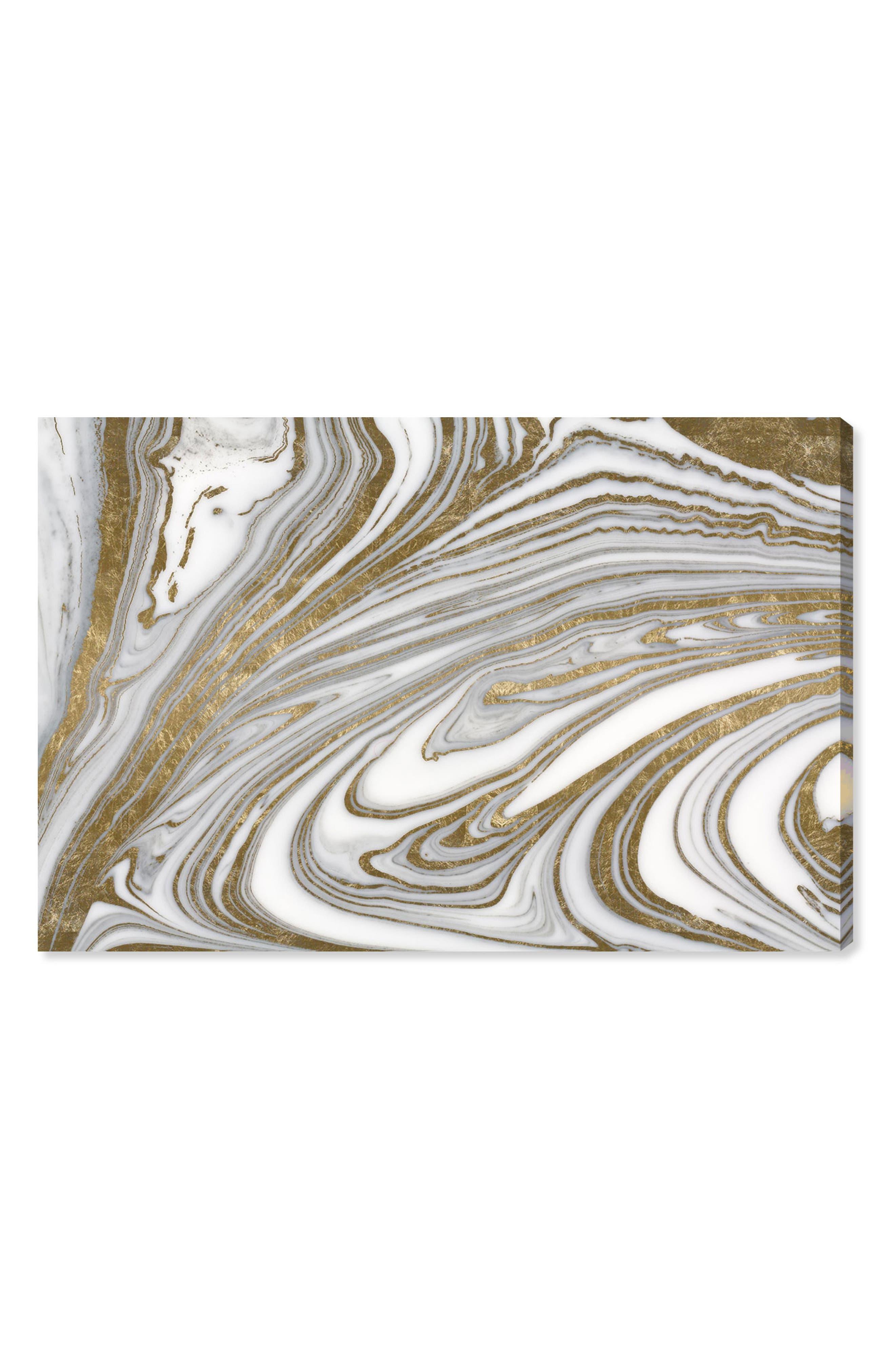 Tuxedo Nights Canvas Wall Art,                             Main thumbnail 1, color,                             Metallic Gold