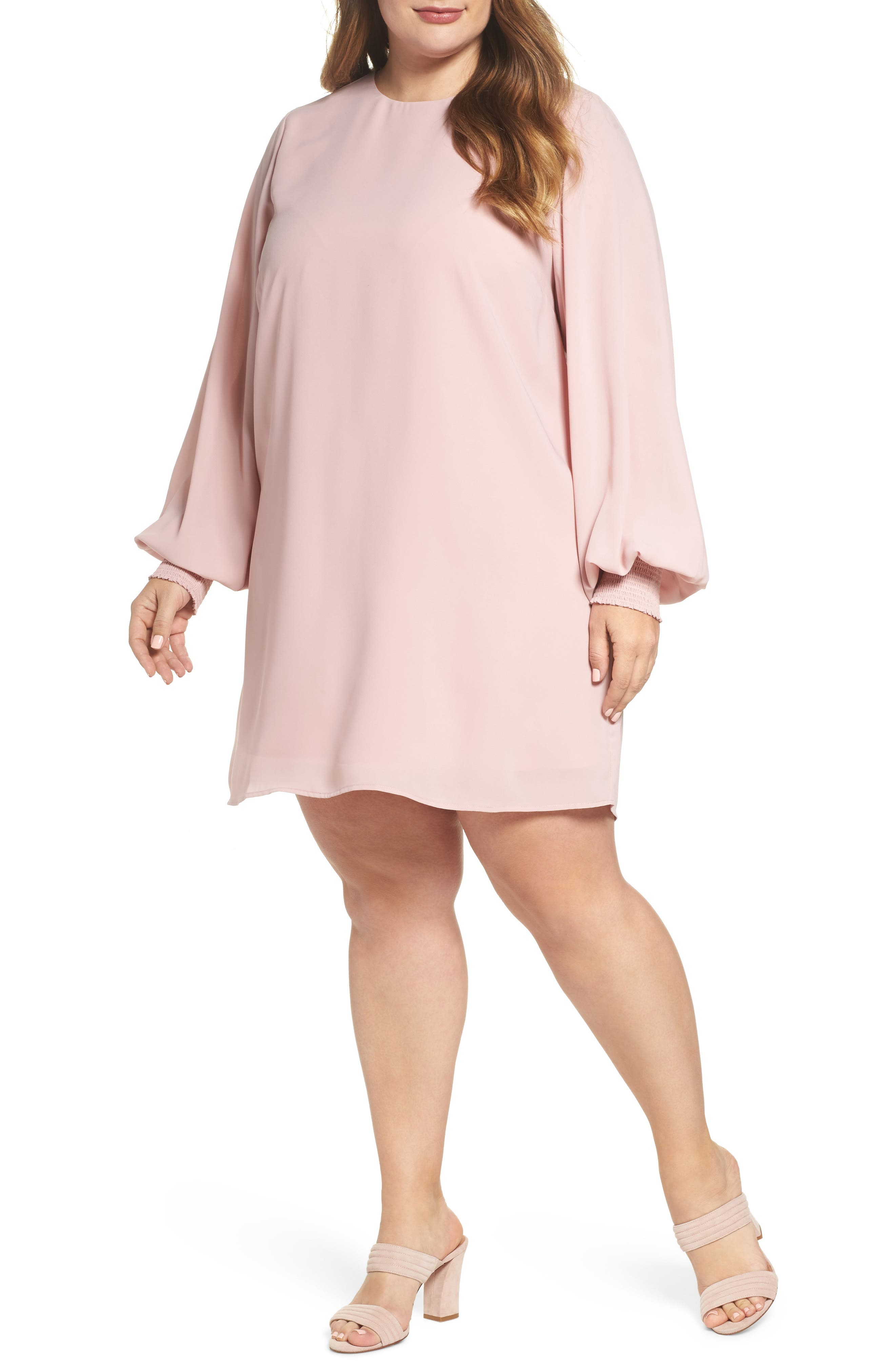 Angel Wing Shift Dress,                             Main thumbnail 1, color,                             Misty Rose