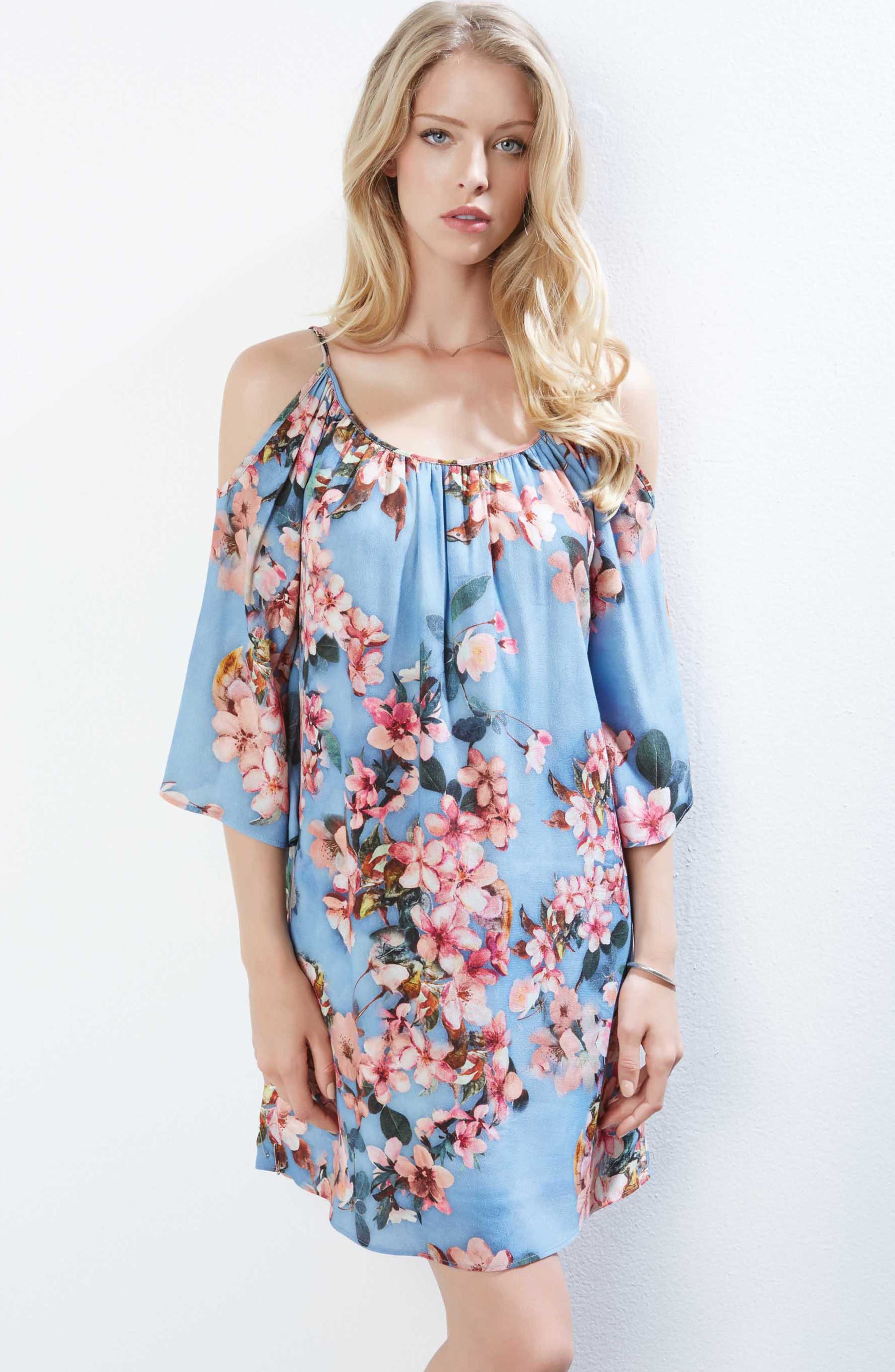 Floral Fresco Dress,                             Alternate thumbnail 2, color,                             Print