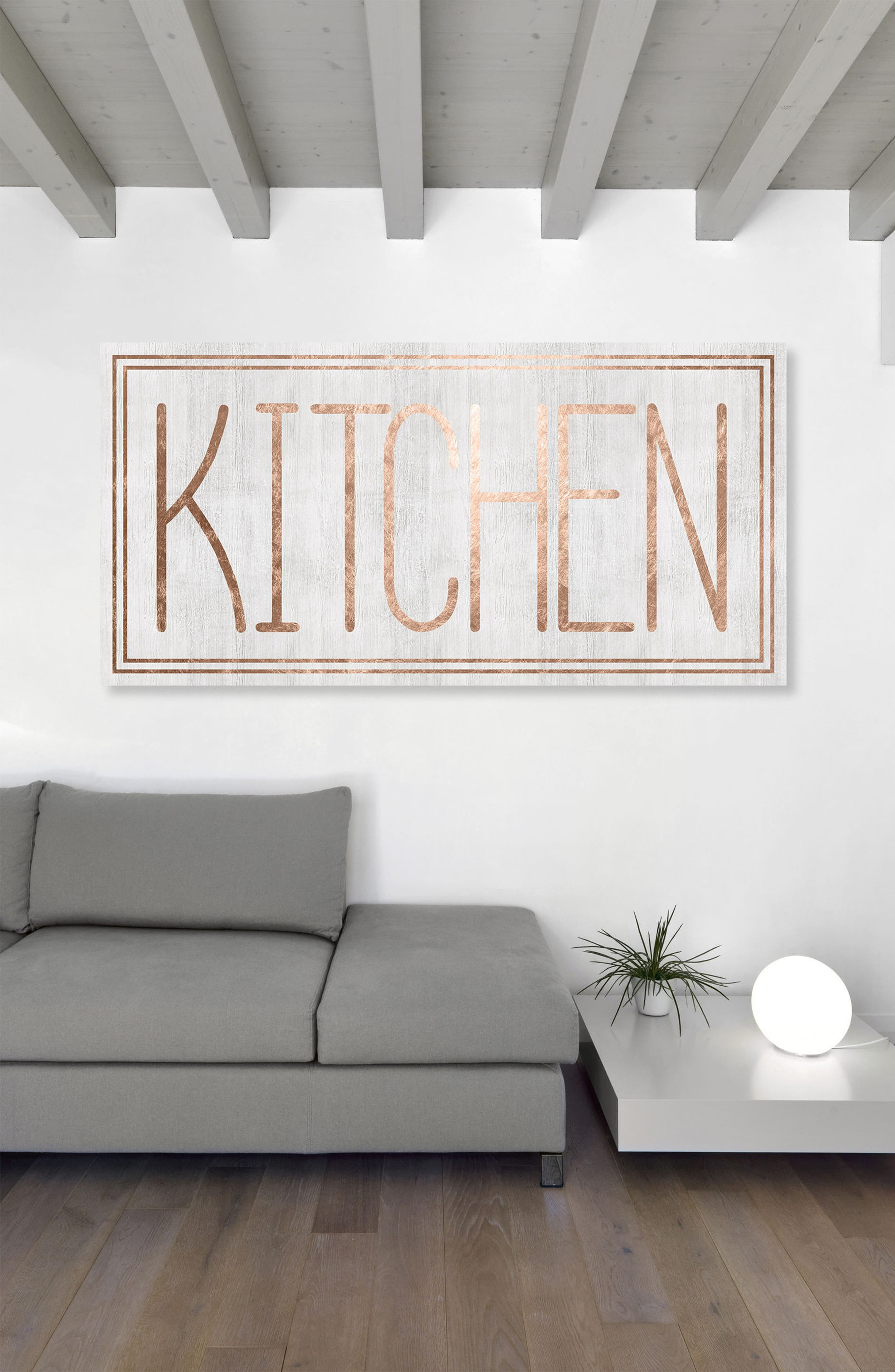 Kitchen Canvas Wall Art,                             Alternate thumbnail 2, color,                             White