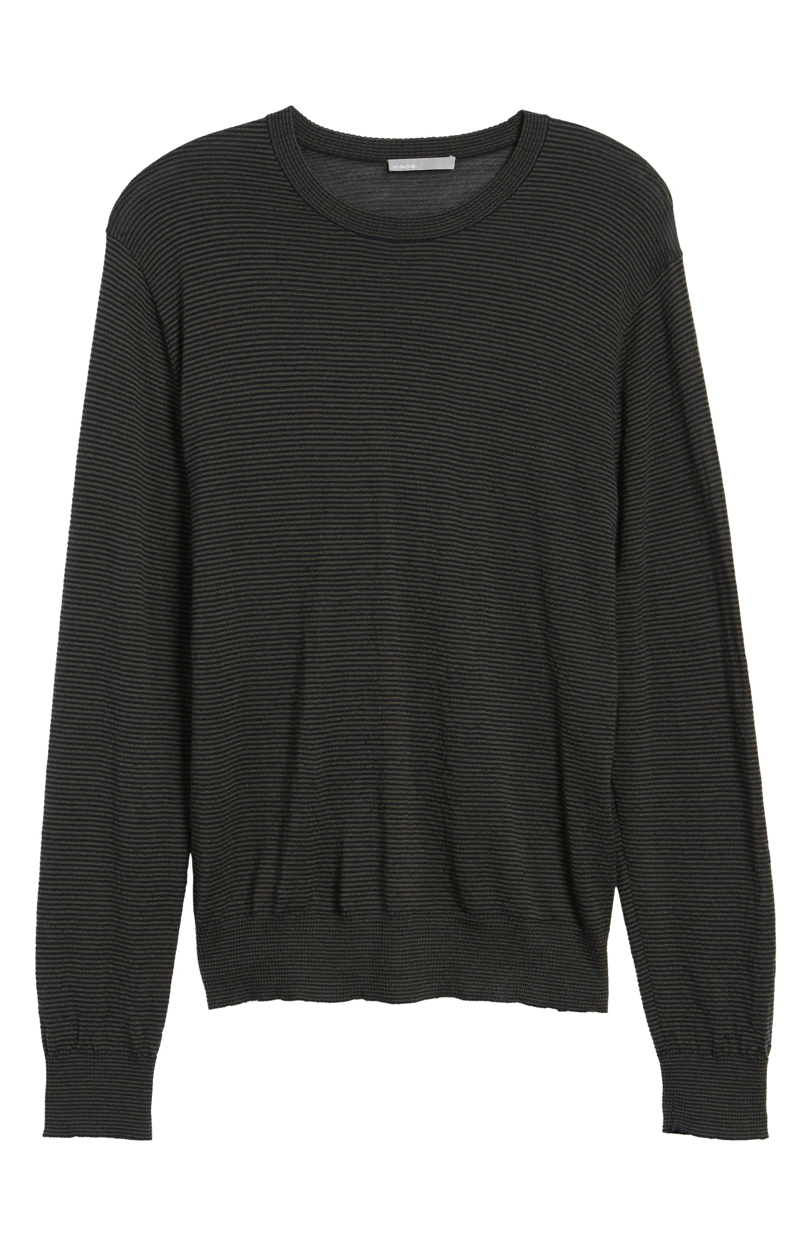 Regular Fit Pinstripe Wool Sweater,                             Alternate thumbnail 6, color,                             New Coastal/ H Charcoal
