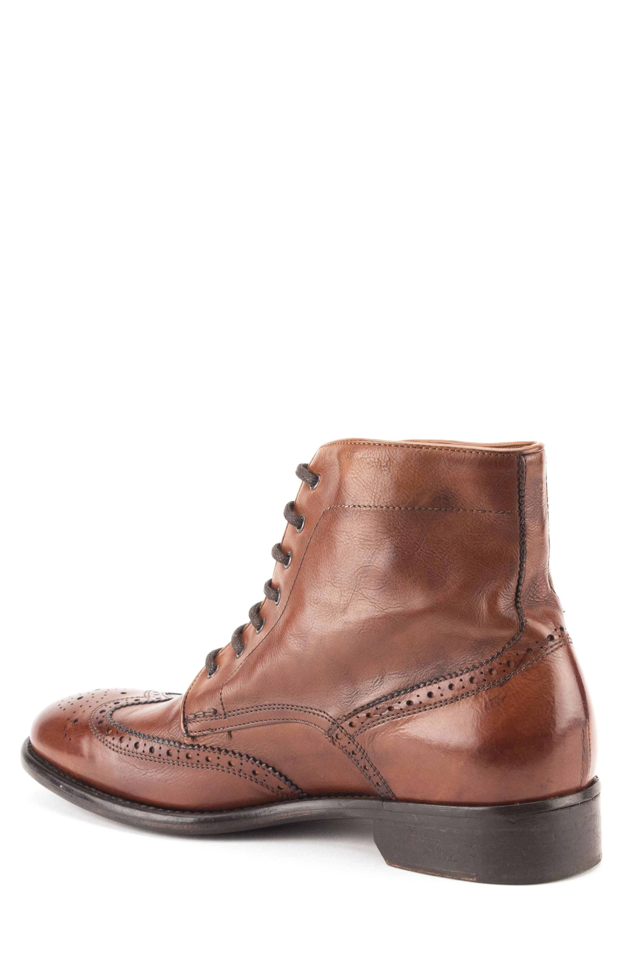 Maxfield Wingtip Boot,                             Alternate thumbnail 2, color,                             Cognac Leather